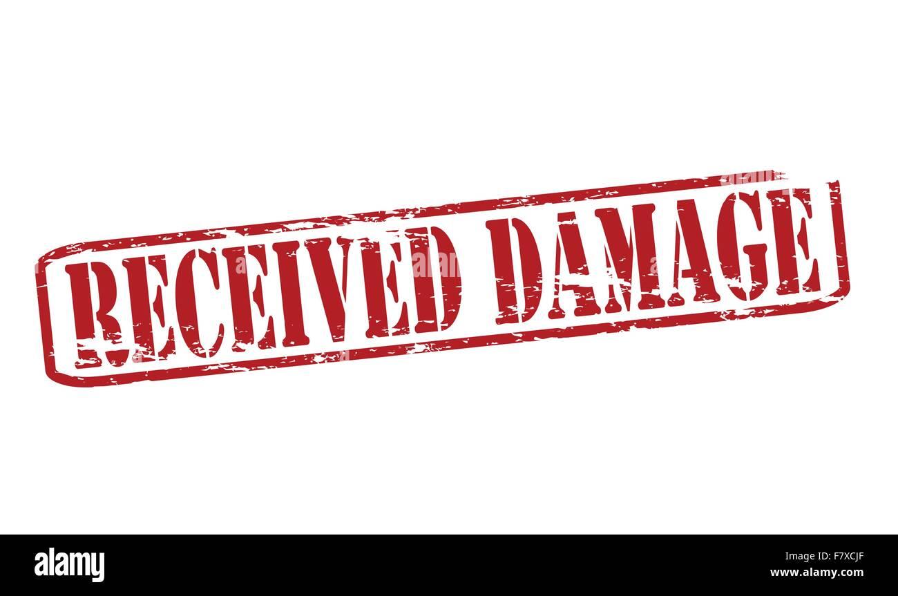 Received damage - Stock Image