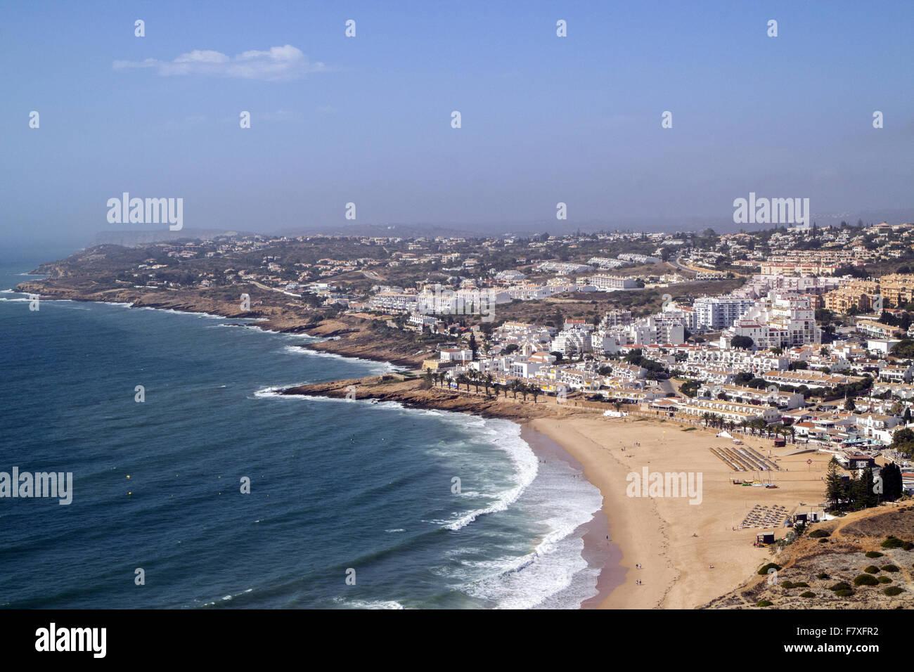 The holiday resort of Praia da Luz, officially Luz, near Lagos in the Algarve,  Portugal. - Stock Image