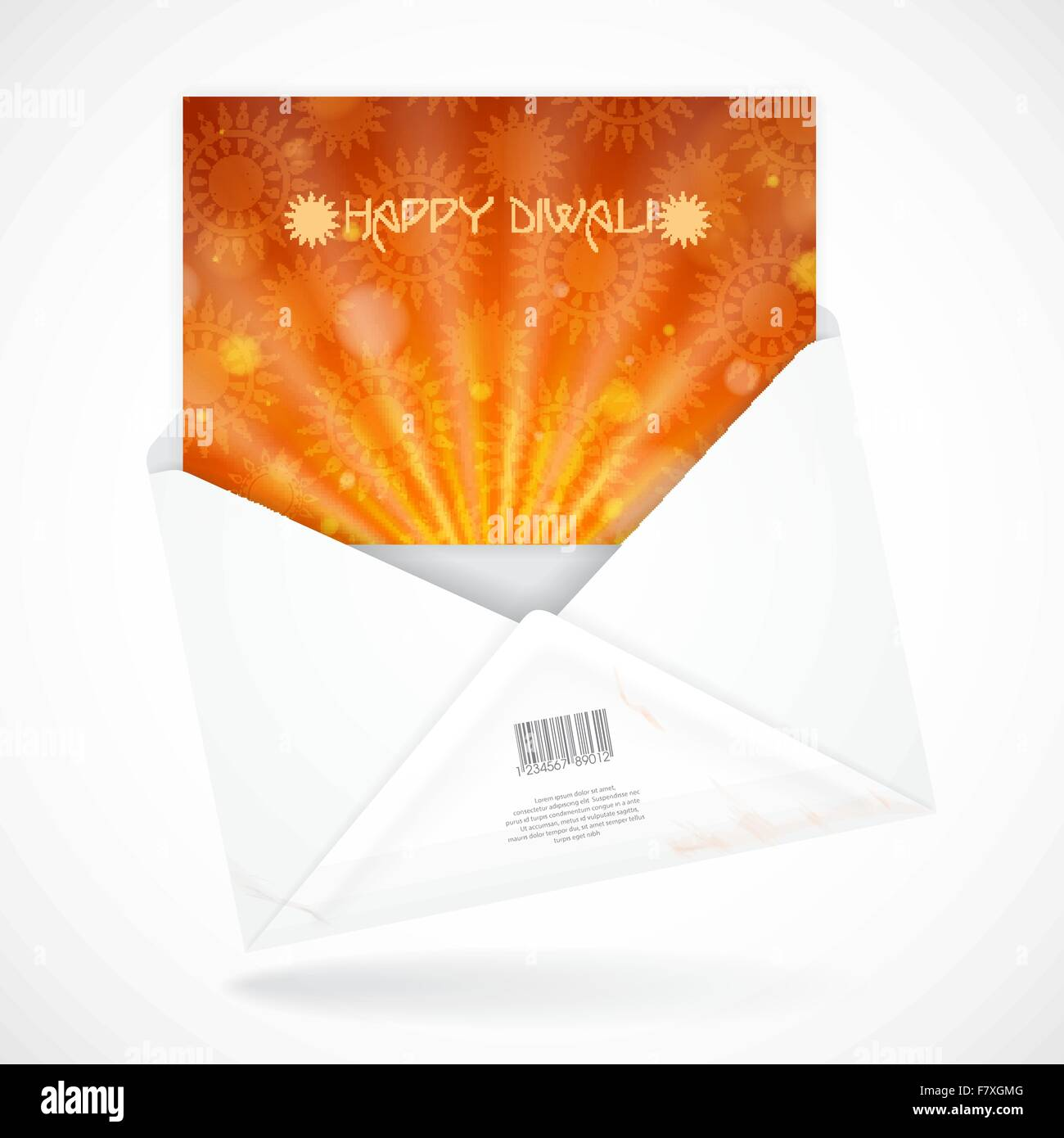 Postal Envelopes With Greeting Card - Stock Vector