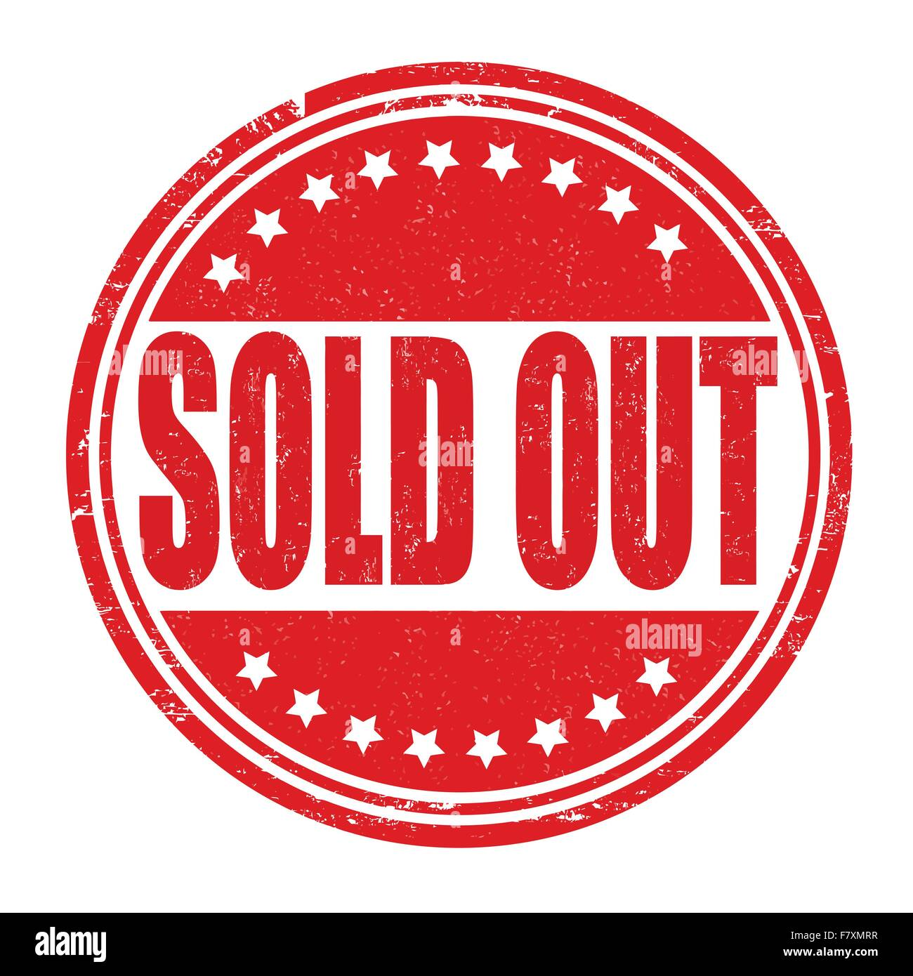Sold out stamp - Stock Image