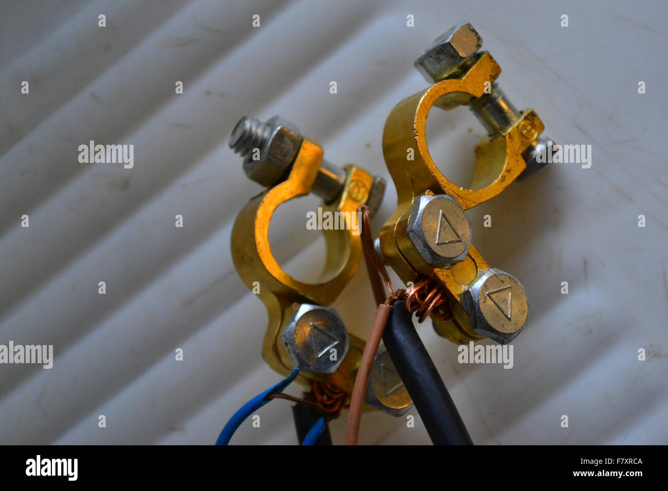 Car-Battery contacts - Stock Image
