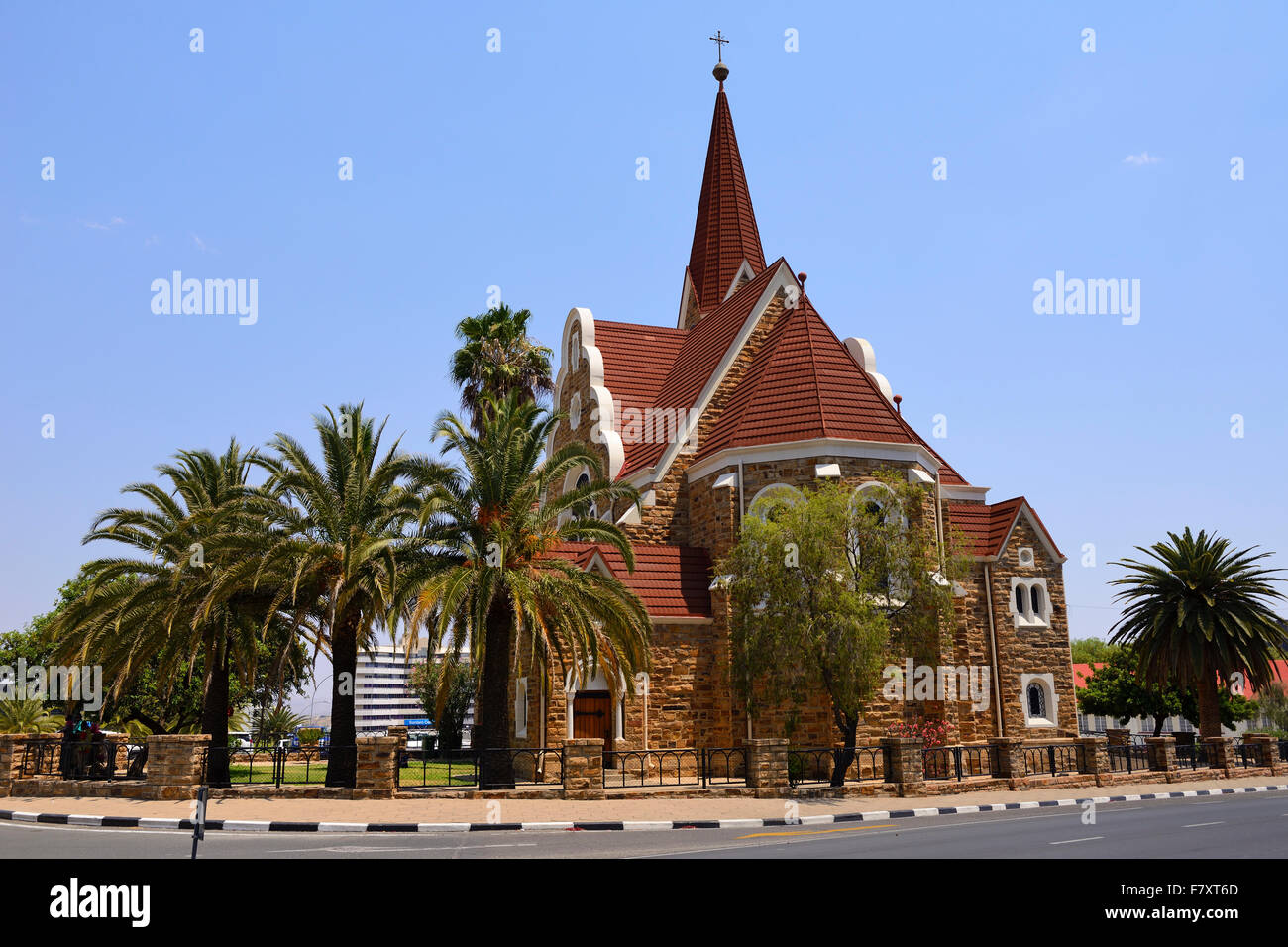 Lutheran Church of Christ (Christus Kirche) in Windhoek, Namibia - Stock Image