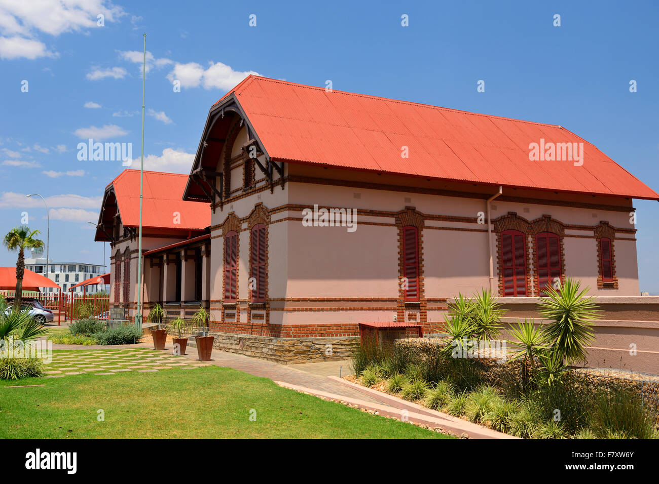 Historical building in downtown Windhoek, Namibia - Stock Image