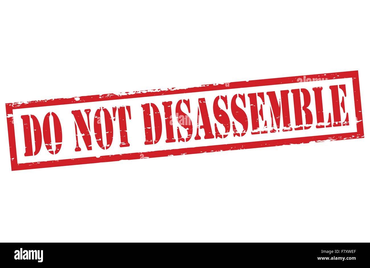 Do not disassemble - Stock Image