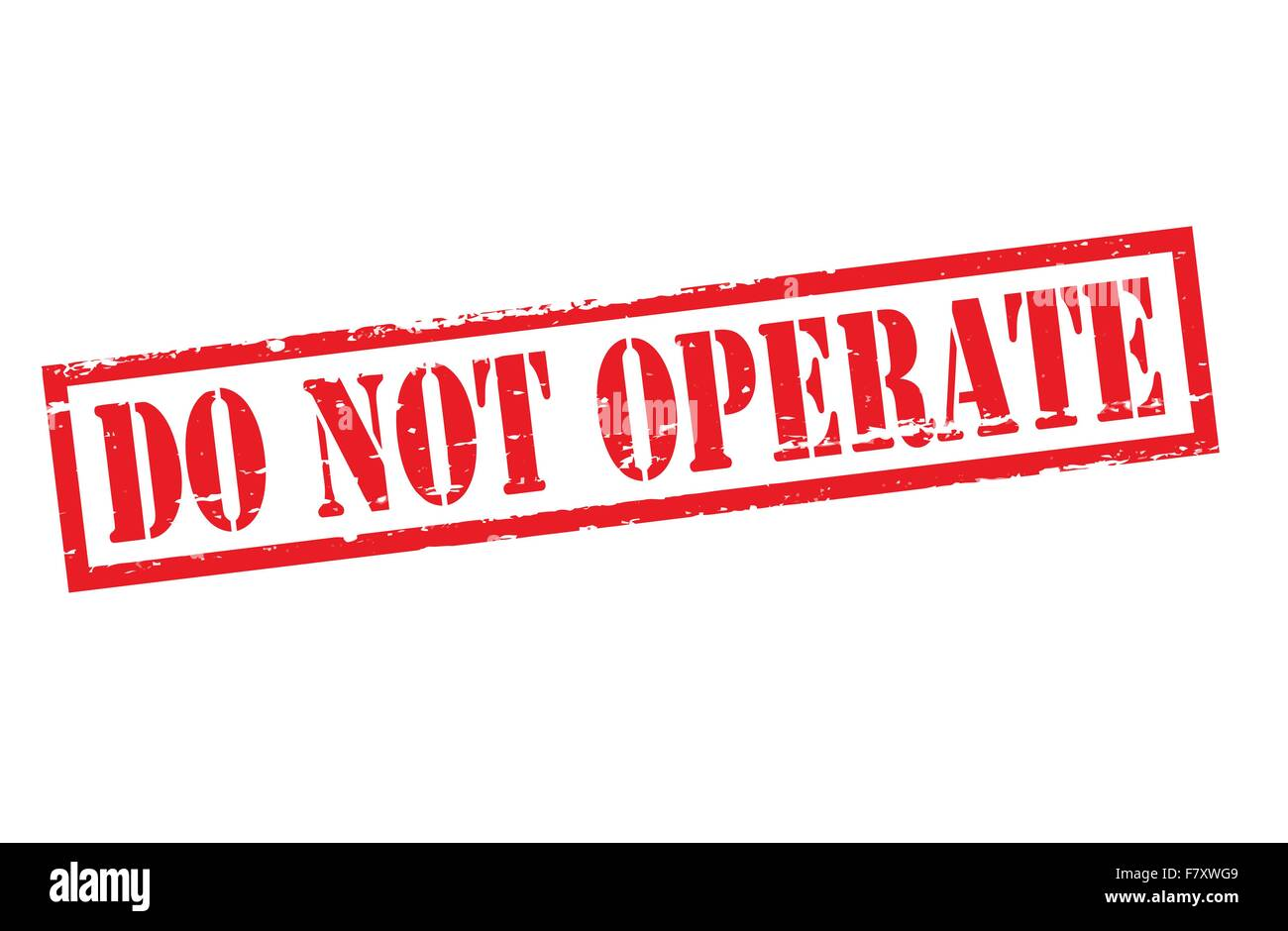 Do not operate - Stock Image