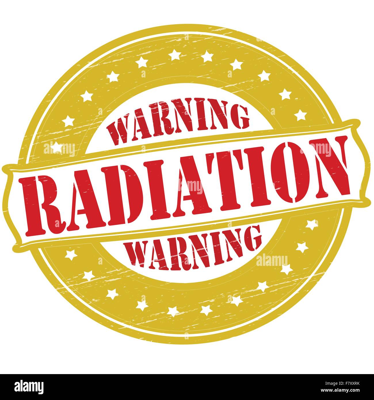 Warning radiation Stock Vector
