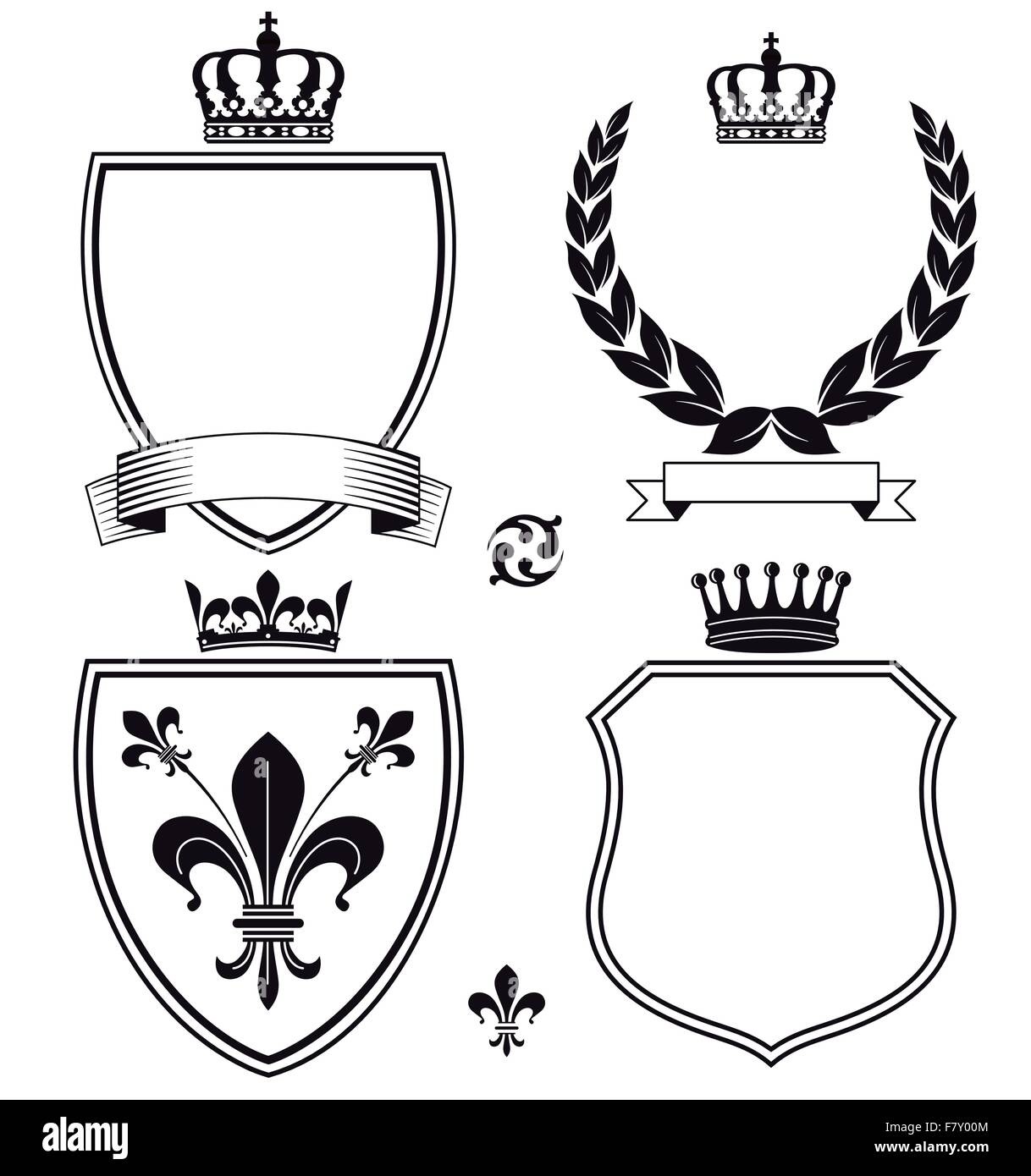 Signs and Heraldic Crests - Stock Image