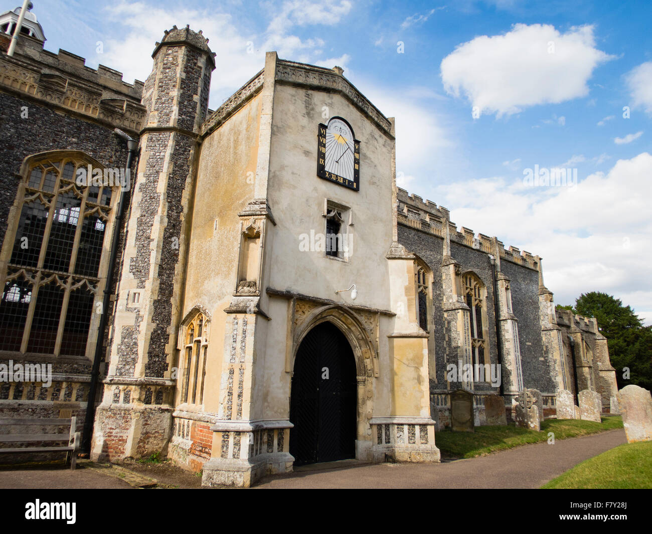 Church of St Mary the Virgin, East Bergholt - Stock Image