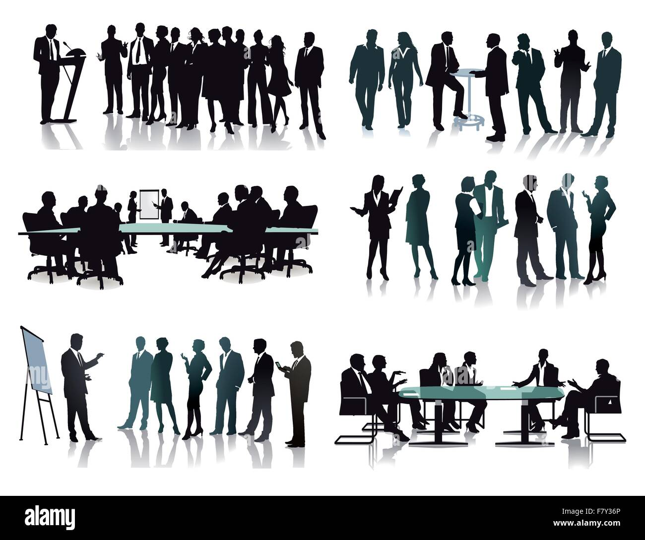 Business groups meetings - Stock Image