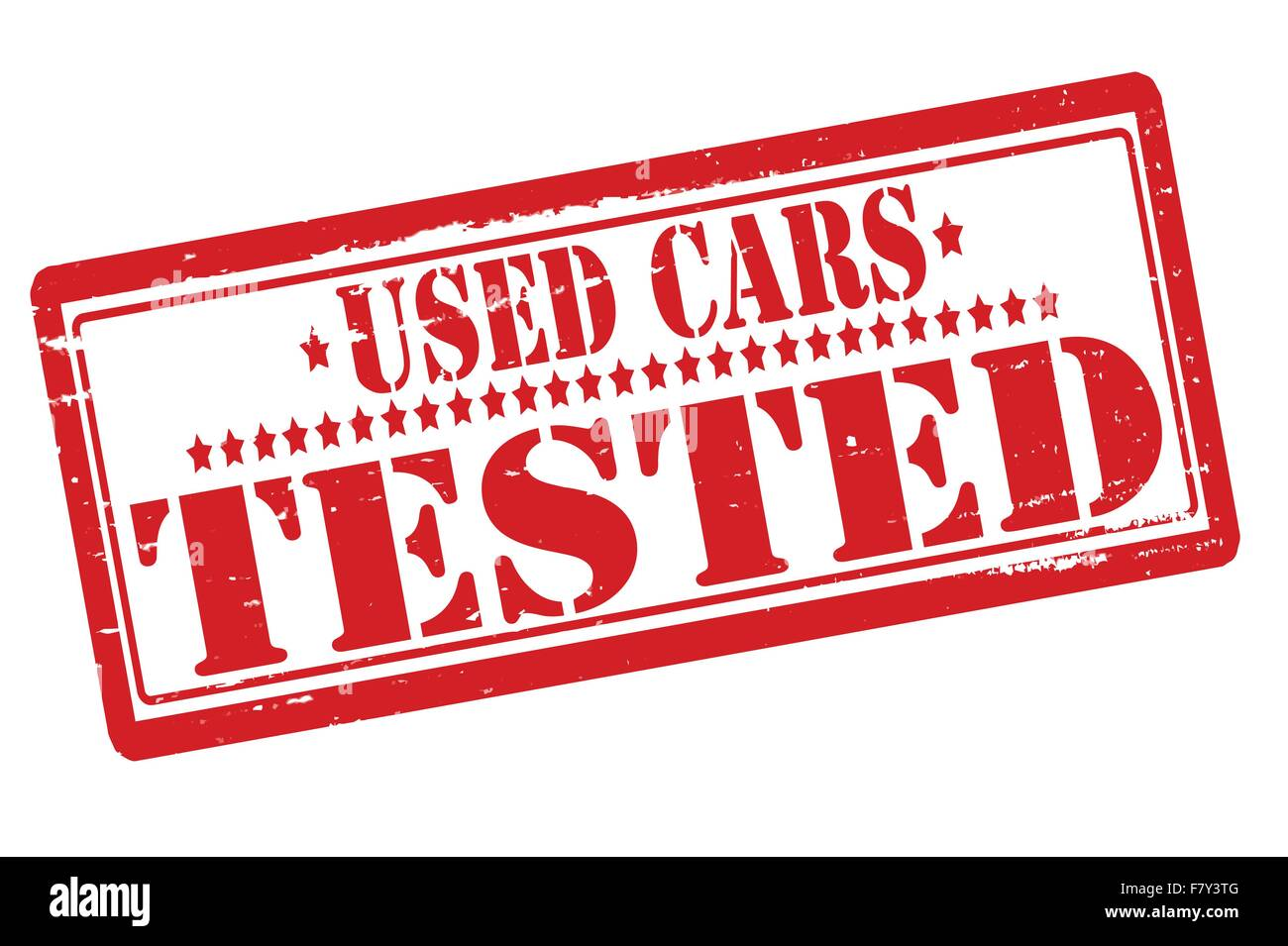 Used cars tested - Stock Vector