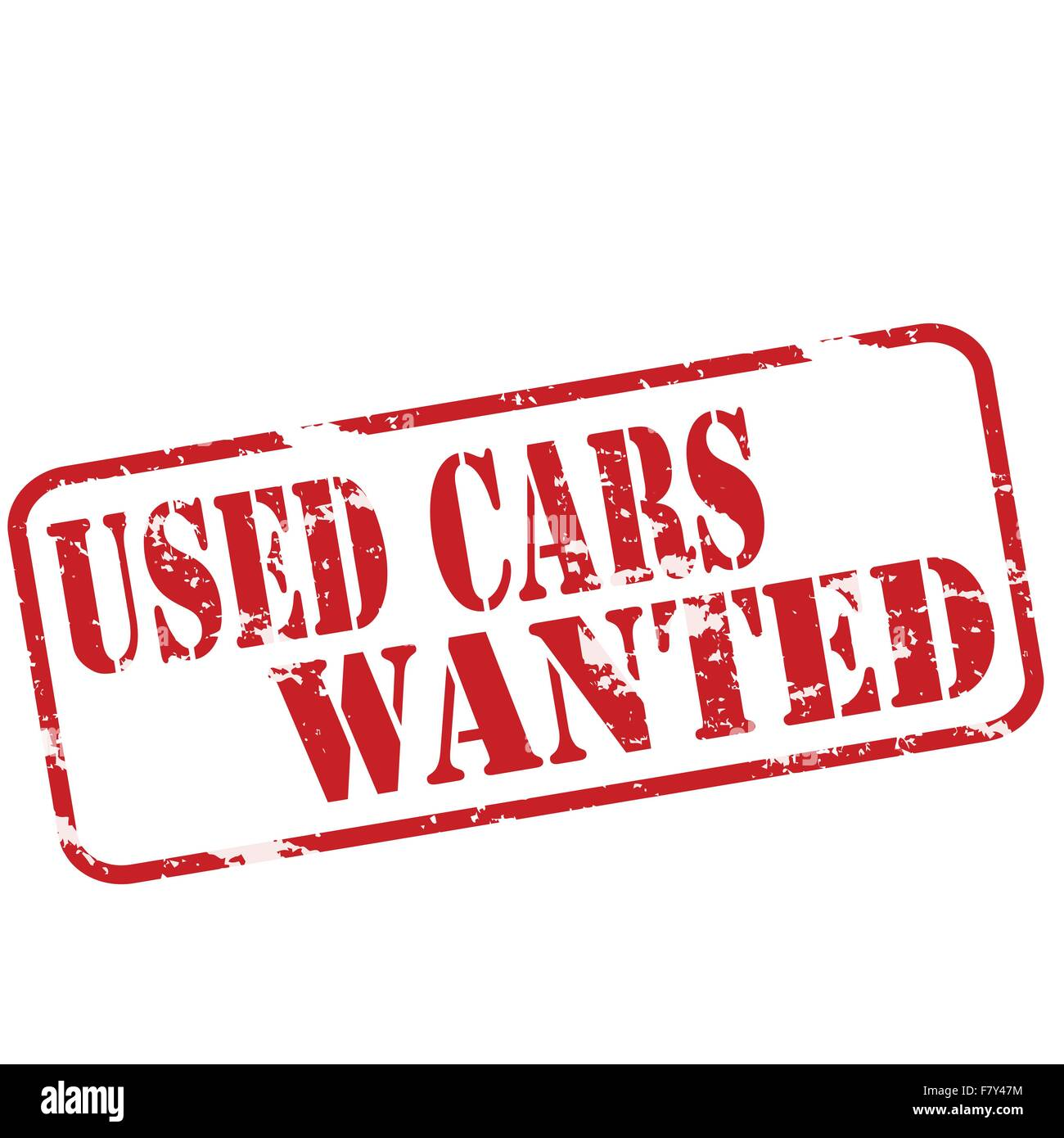 Used cars wanted - Stock Vector