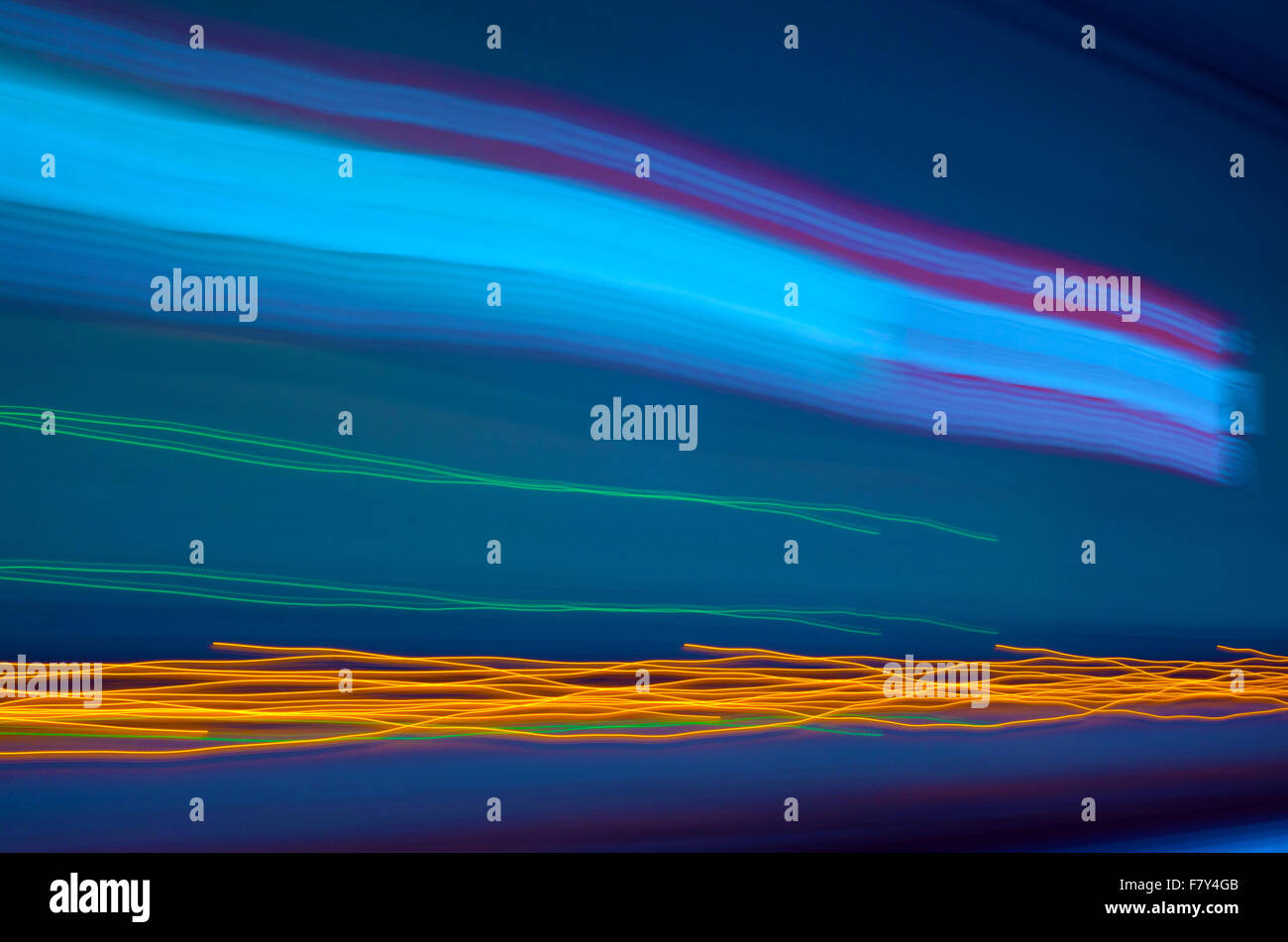 Blue abstract  background. Lines and curves concept of speed. Photo result Stock Photo