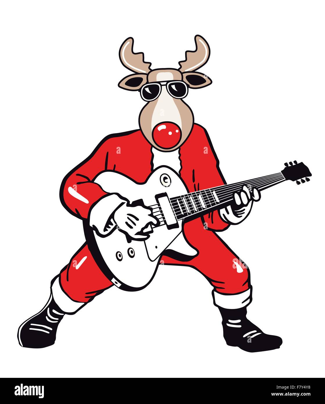 Christmas Reindeer Rocker - Stock Image