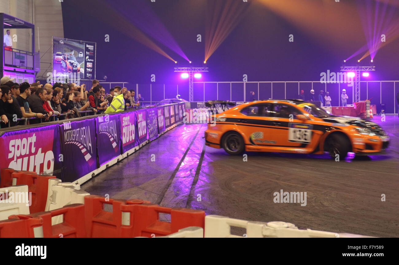 Essen, Germany. 3rd Dec,  2015. DMAX Motorsport Arena at the 2015 Essen Motor Show. Credit:  Ashley Greb/Alamy Live - Stock Image