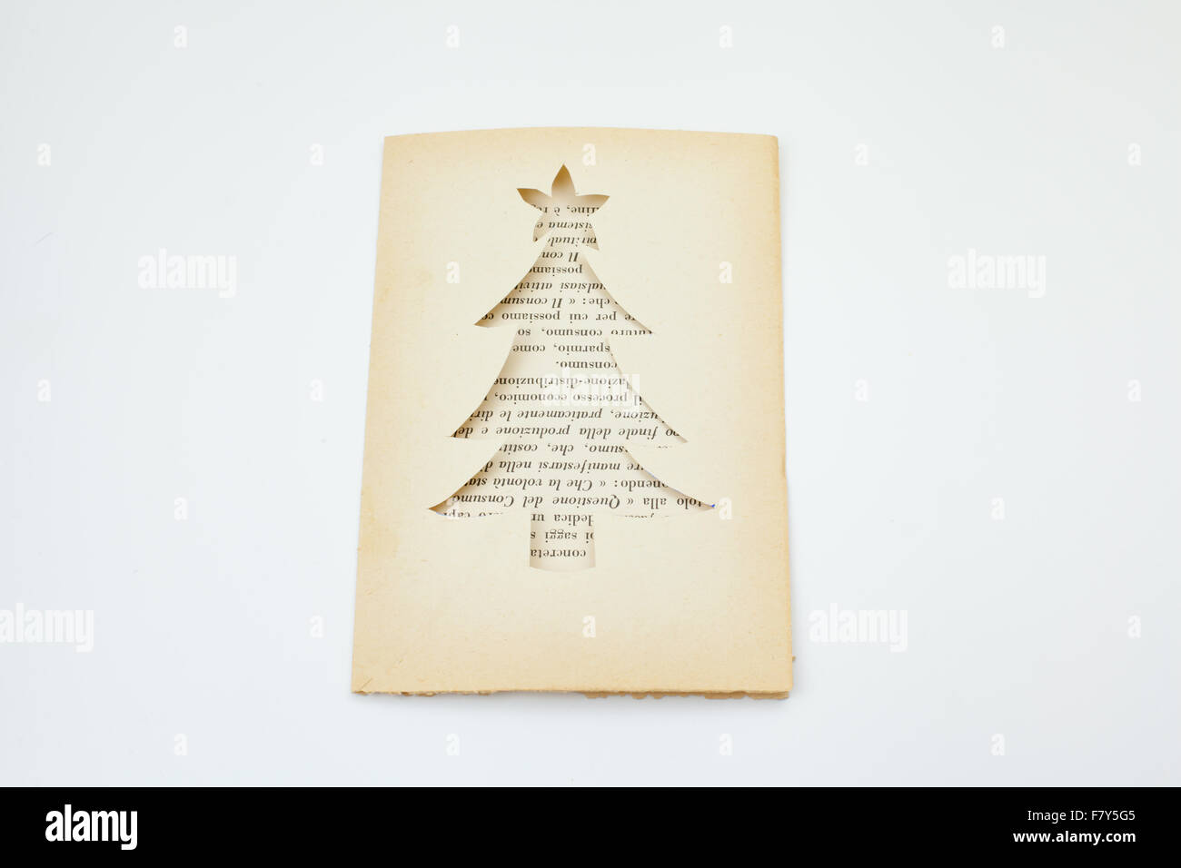 Christsmas invitation card on recycled paper Stock Photo: 90951509 ...