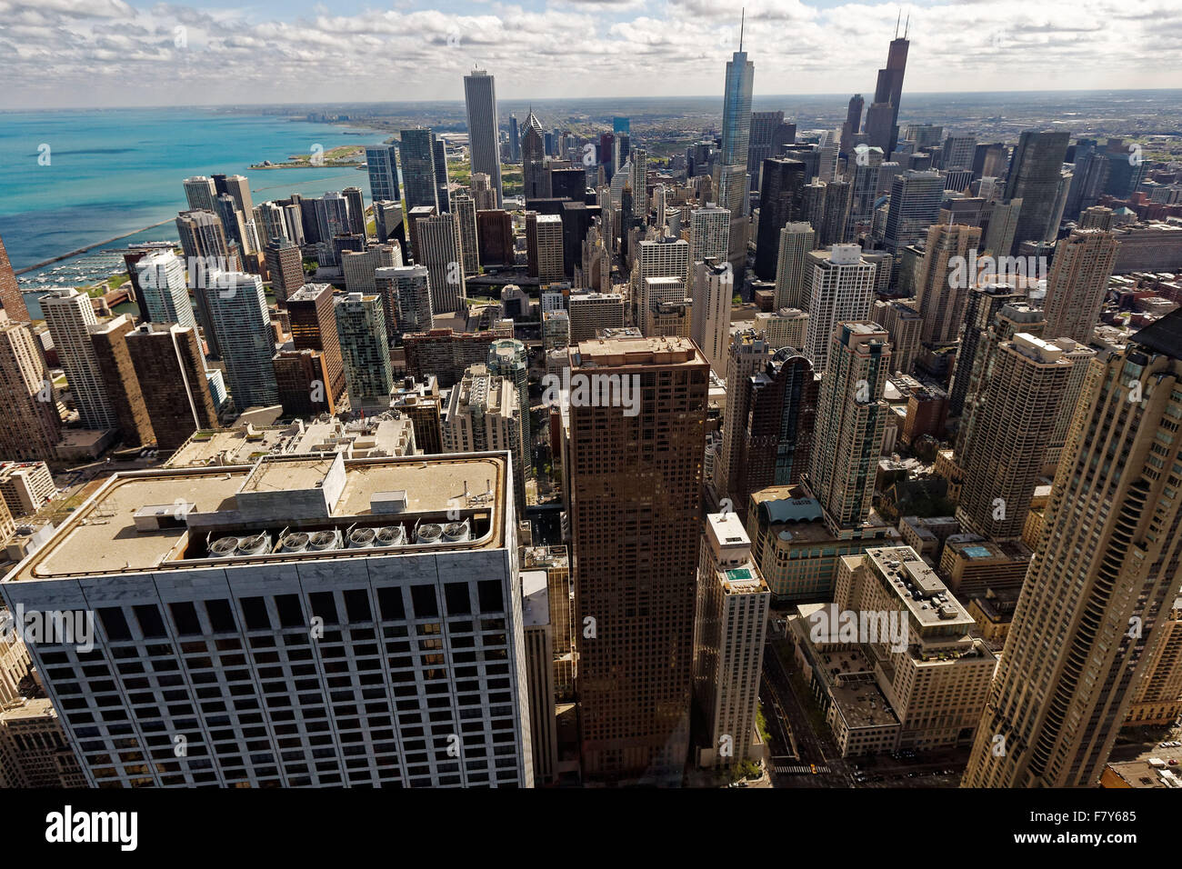 General view of Chicago, Illinois, on the banks of Lake Michigan. photo by Trevor Collens 16/4/2014 - Stock Image