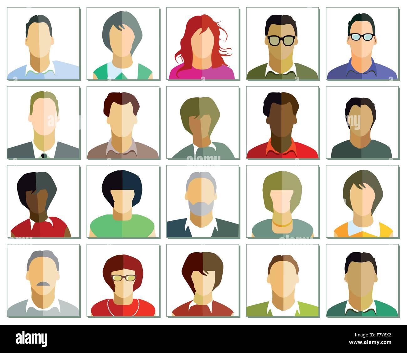 face portrait - Stock Vector