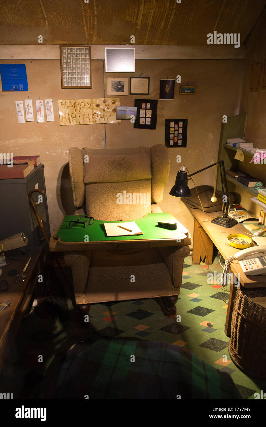 The Roald Dahl Museum and Story Centre, Great Missenden, Roald Dahl's reconstructed famous Writing Hut, UK Stock Photo