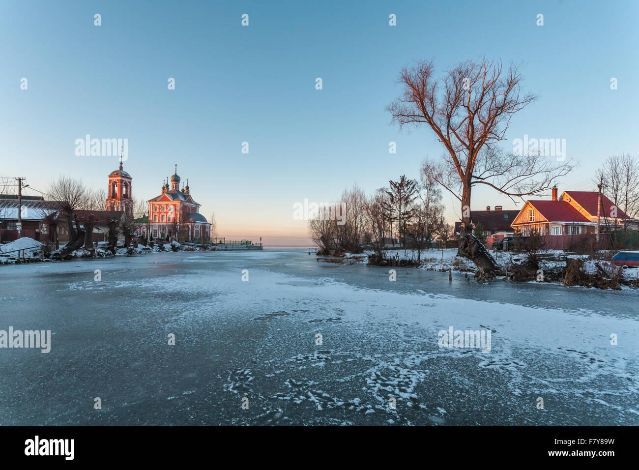 Pereslavl-Zalessky, Russia - November 29, 2015: Sorokosvyatsky church, of Forty martyrs Sevastiysky  1775 year. - Stock Image