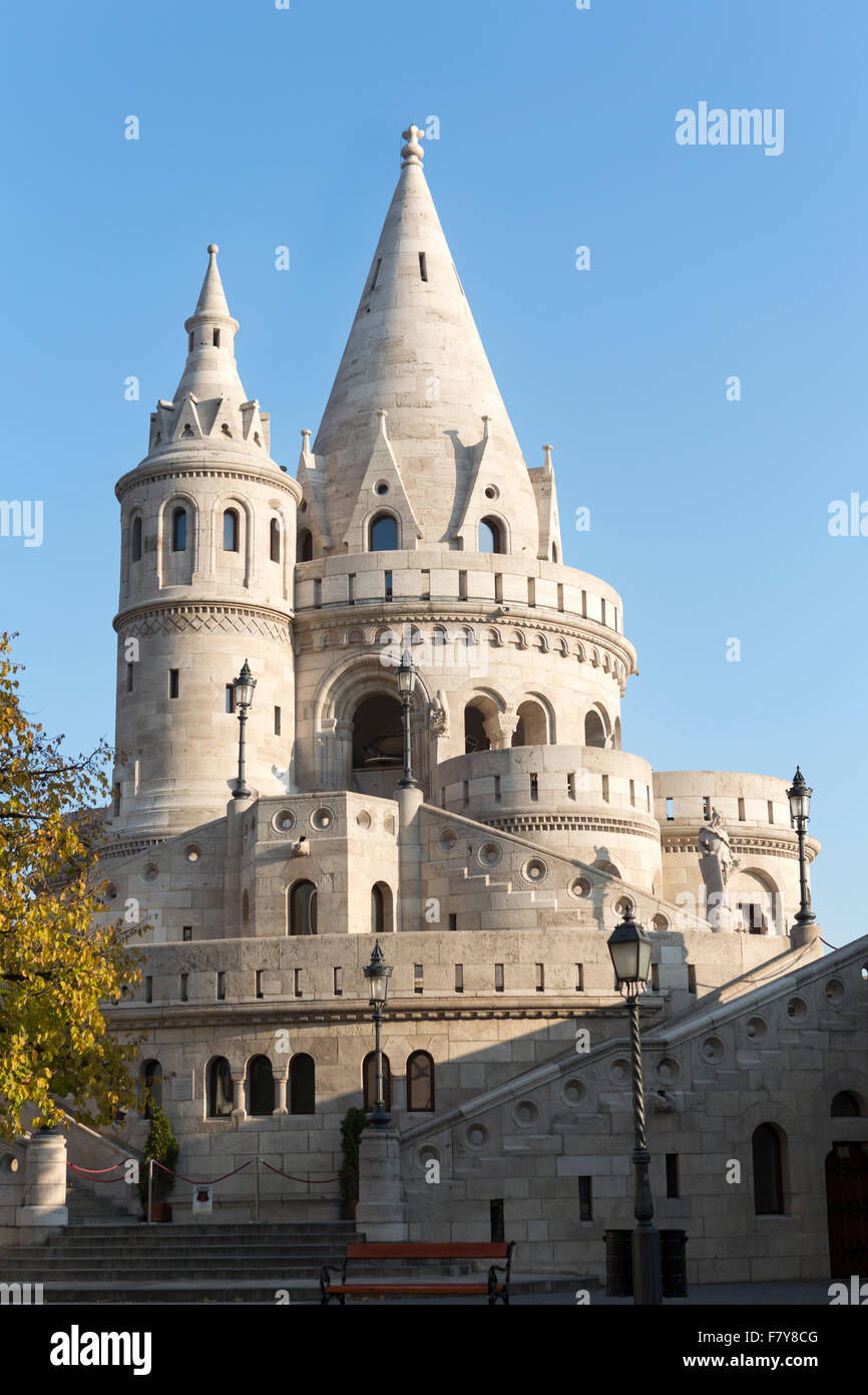 Hungary, Budapest, the Fishermans Bastion in the castle area. - Stock Image