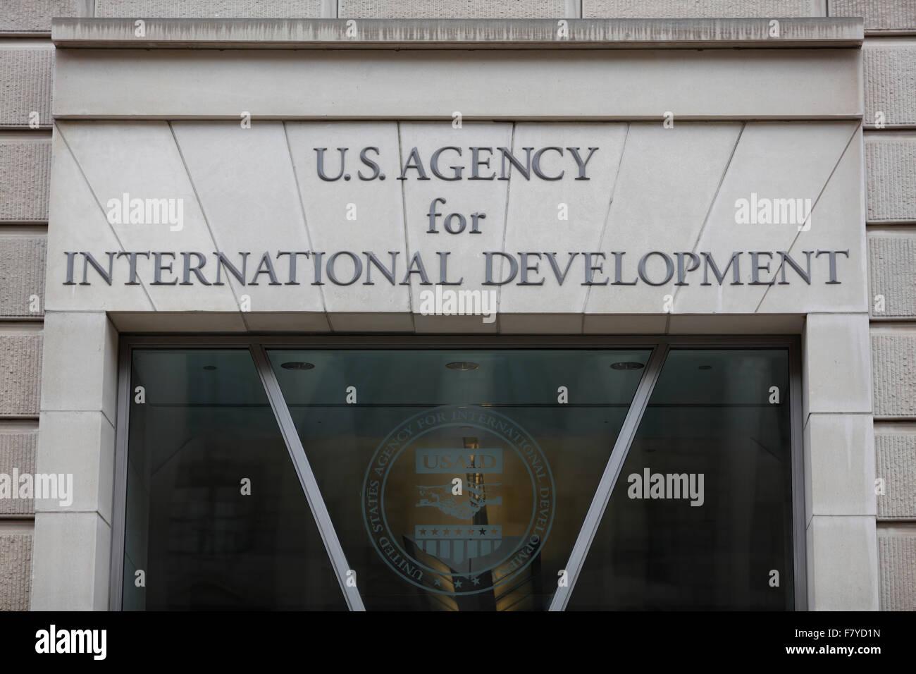 Office, US Agency for International Development, Ronald Reagan Building, Washington, D.C., United States - Stock Image