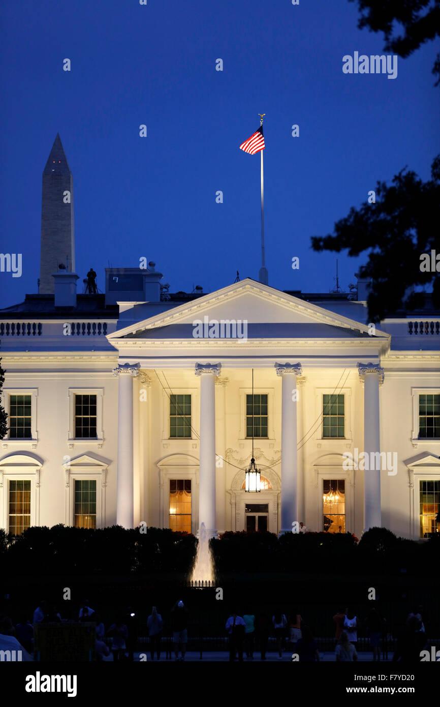 White House, obelisk, Washington, D.C., United States - Stock Image
