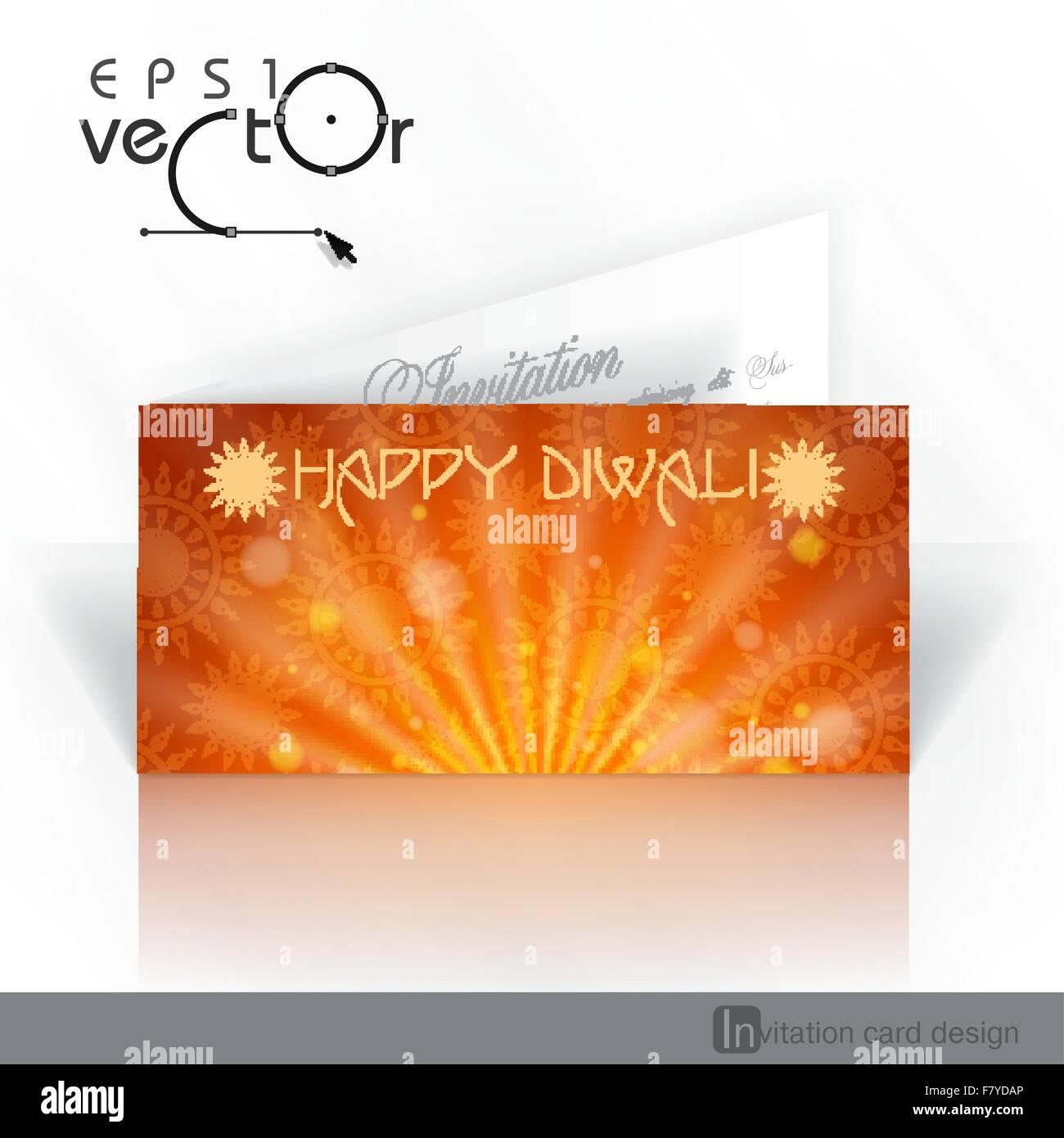 Invitation Card Design Template Stock Vector Art