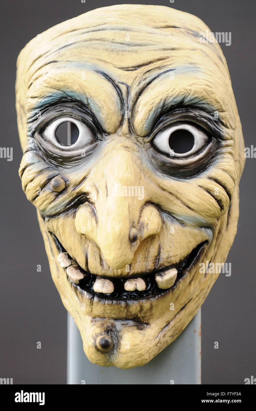 Scary frightening Halloween mask - Stock Image