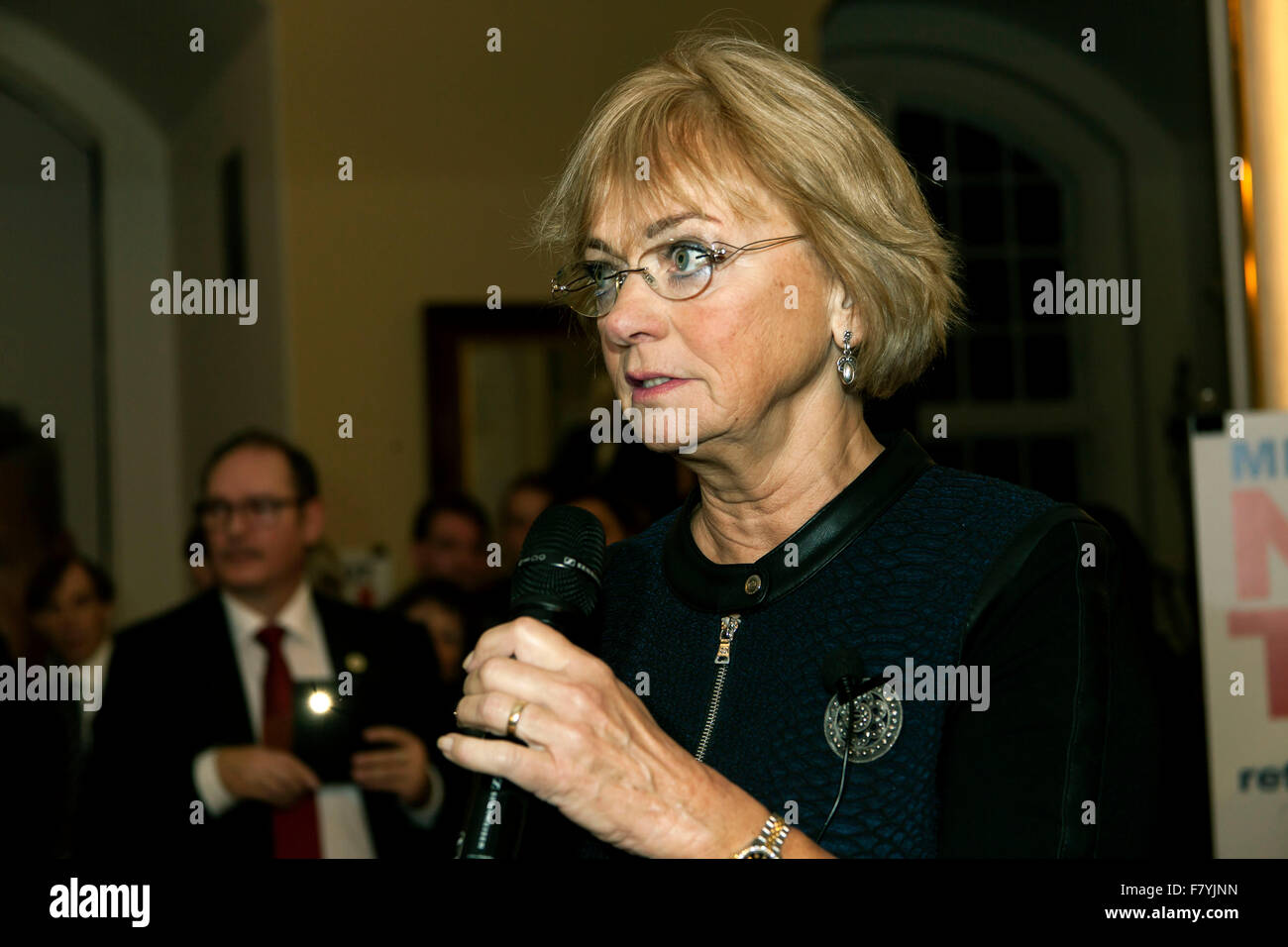 Copenhagen, Denmark, December 3rd, 2015. Grand old lady of the Danish People's Party and Speaker of the House, Pia - Stock Image