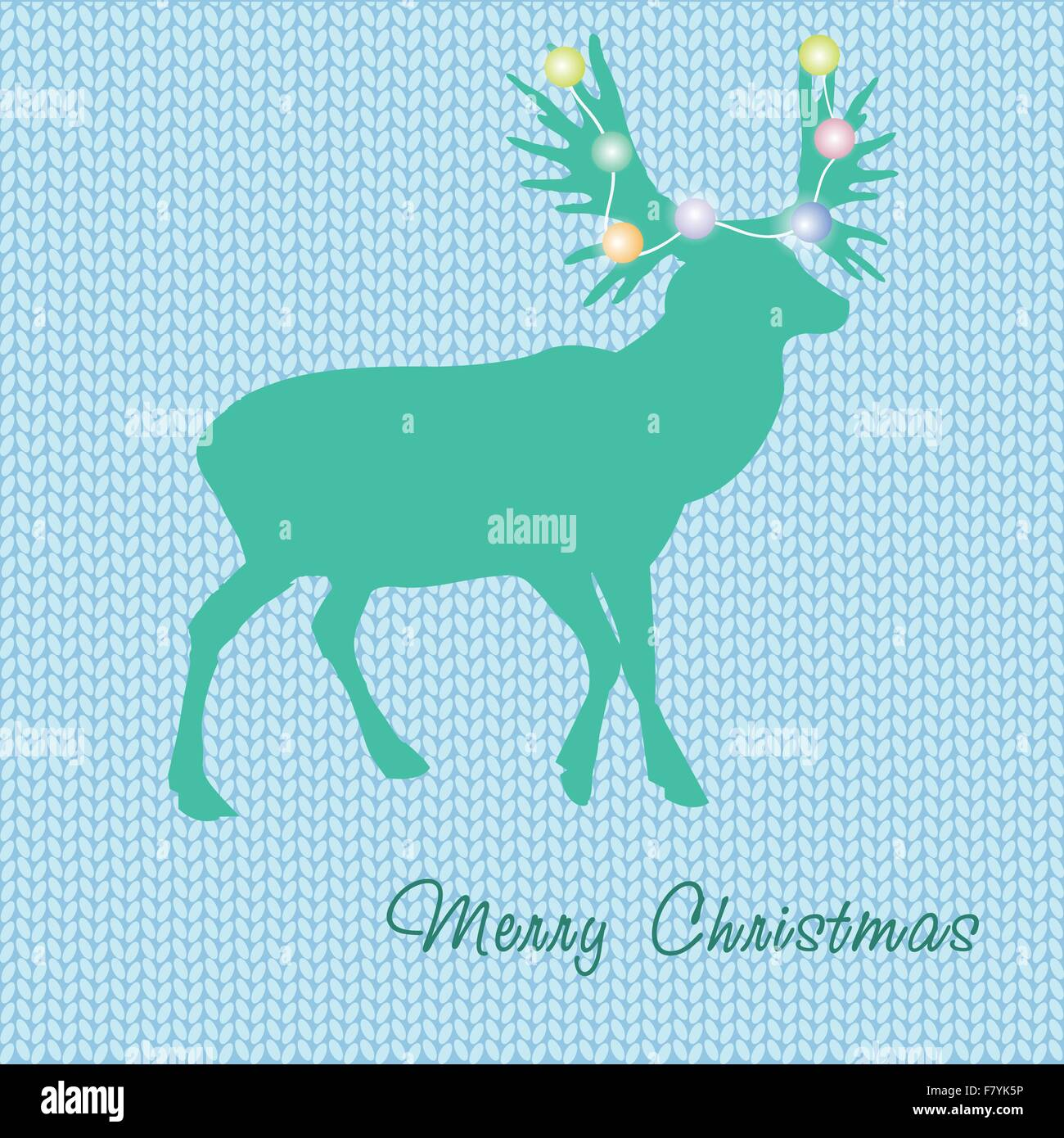 6410fa872331b Stock Vector. Enlarge. Christmas card with reindeer in Santa hat.