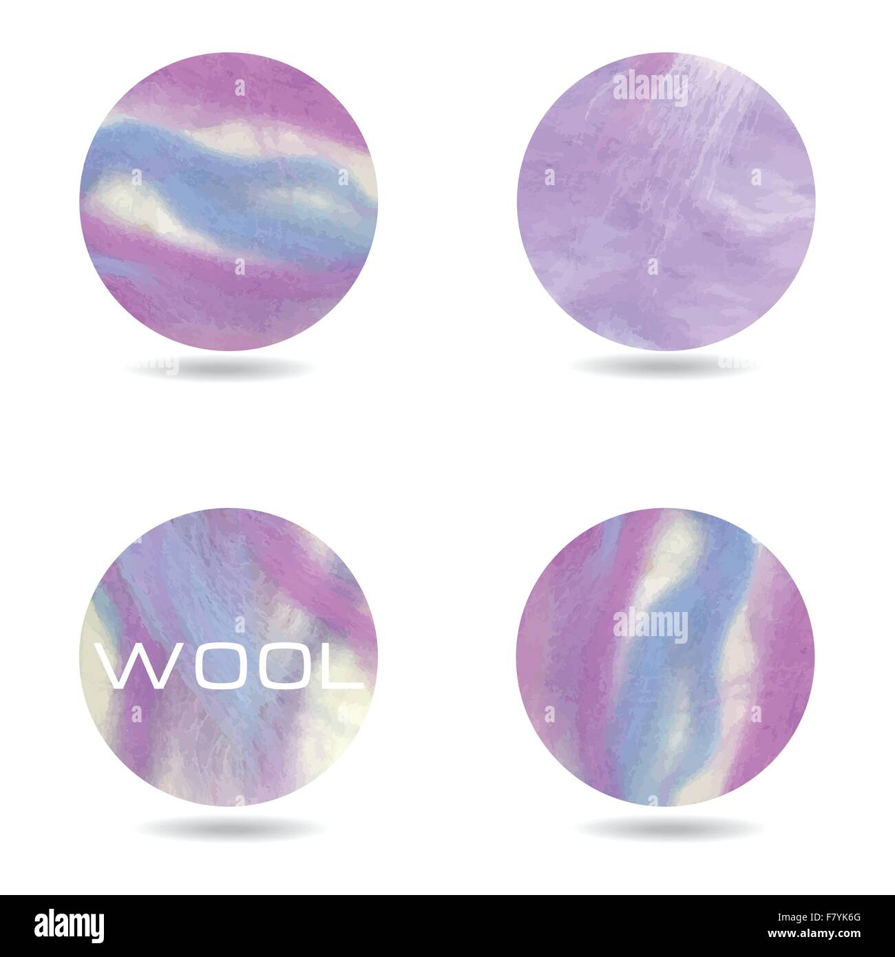 Abstract purple colorful background. Sheep wool vector backdrop. - Stock Vector