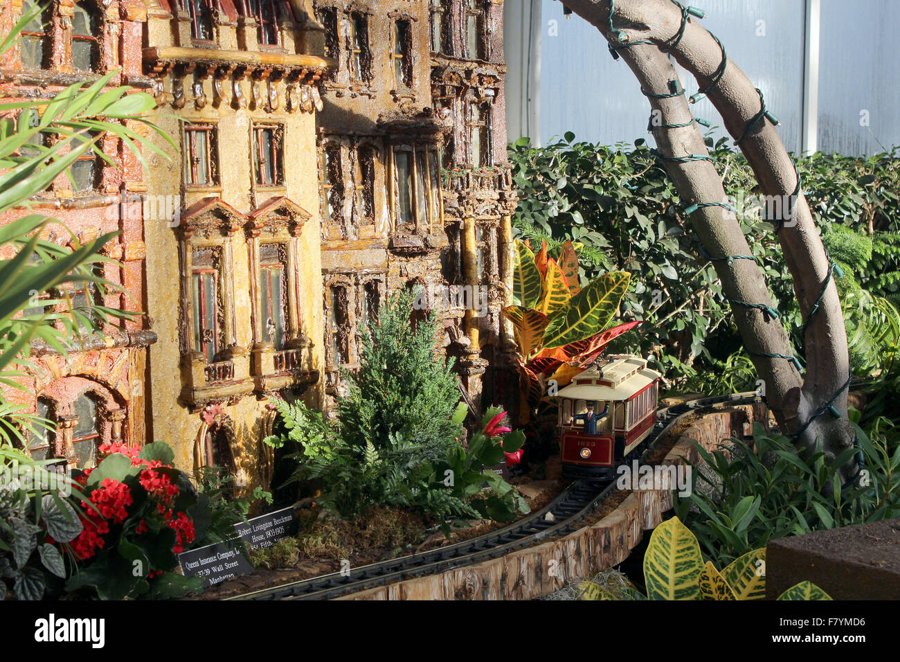 new york botanical gardens holiday train show stock image - Bronx Botanical Garden Train Show