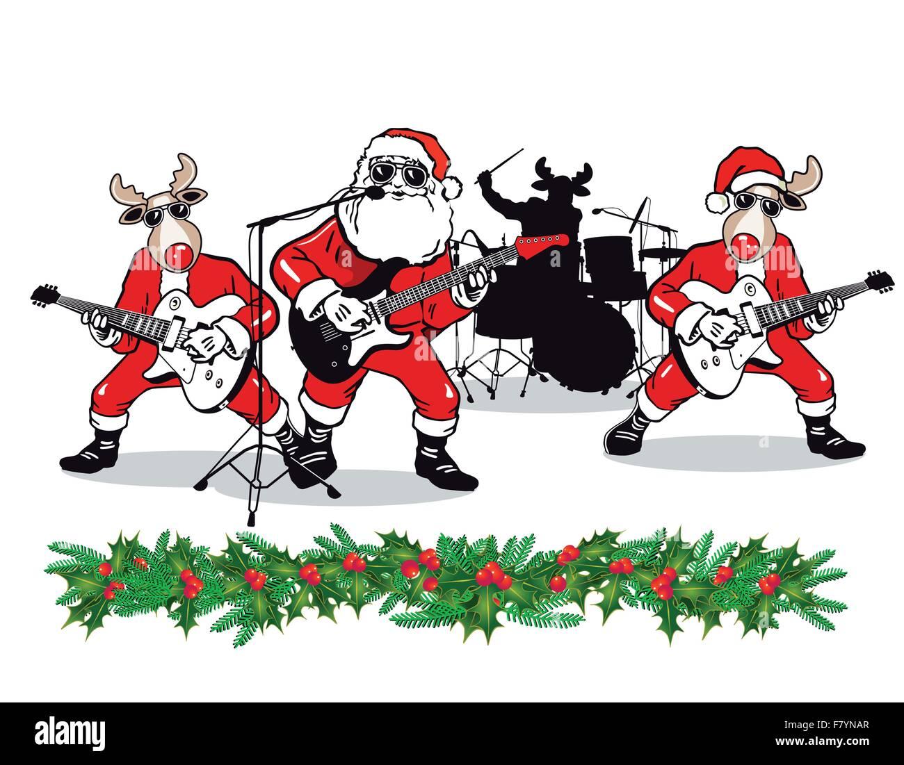 Christmas Band - Stock Image
