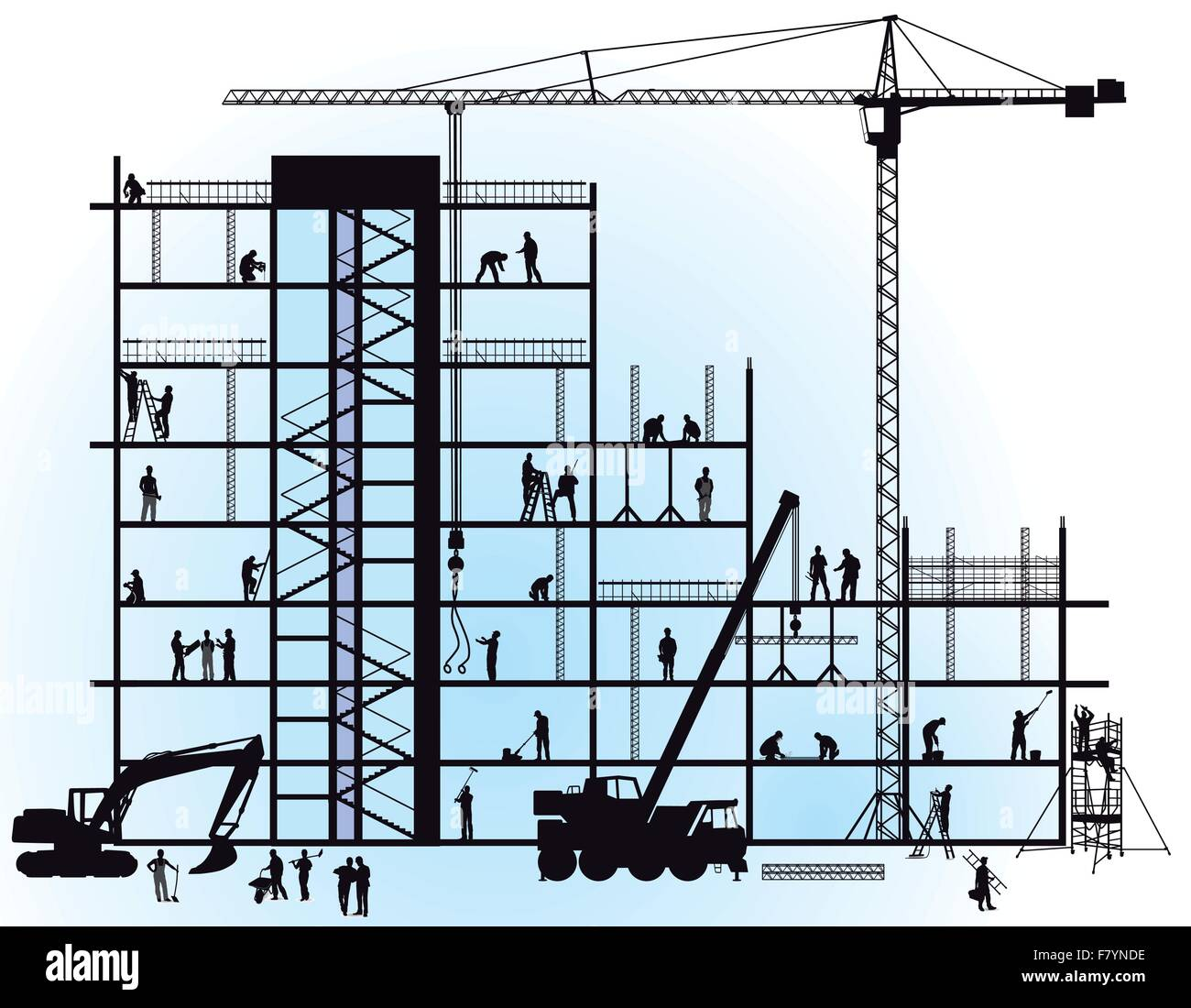 new construction - Stock Vector