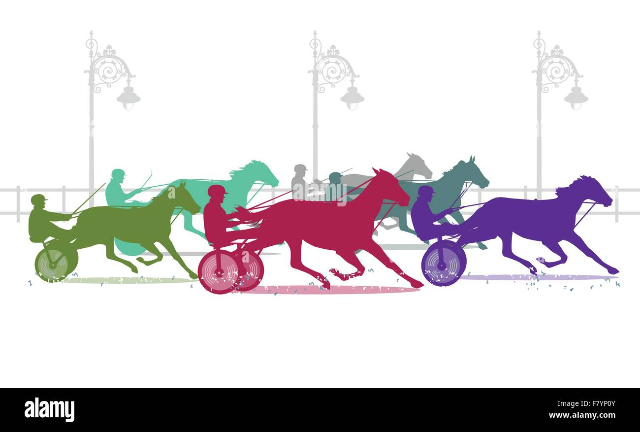 trotting track - Stock Vector