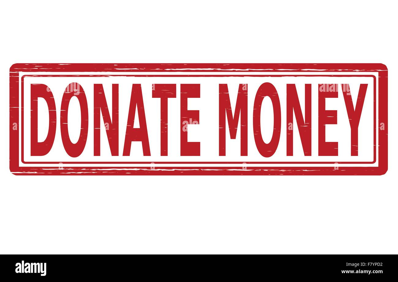 Donate money - Stock Image