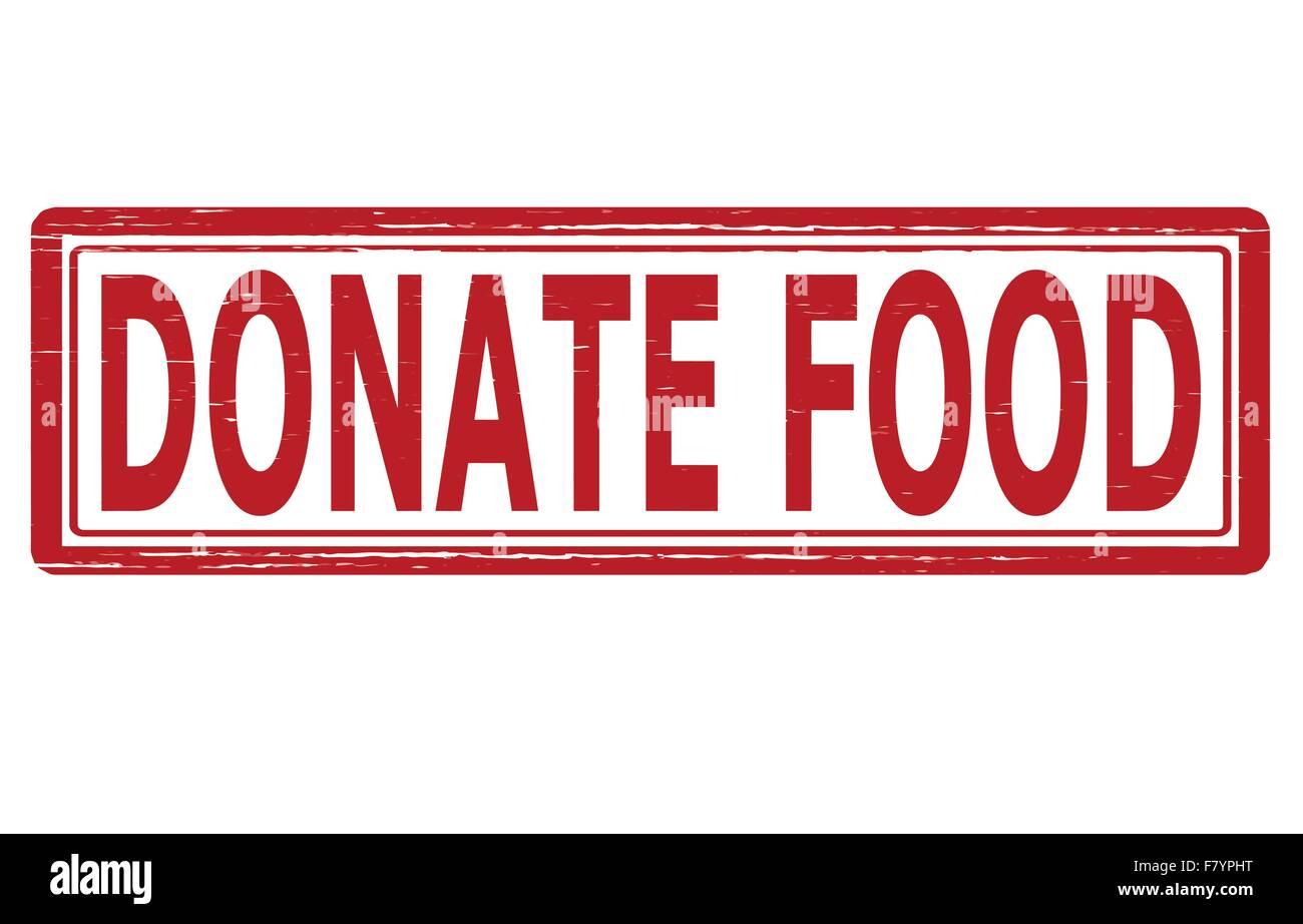 Donate food - Stock Image