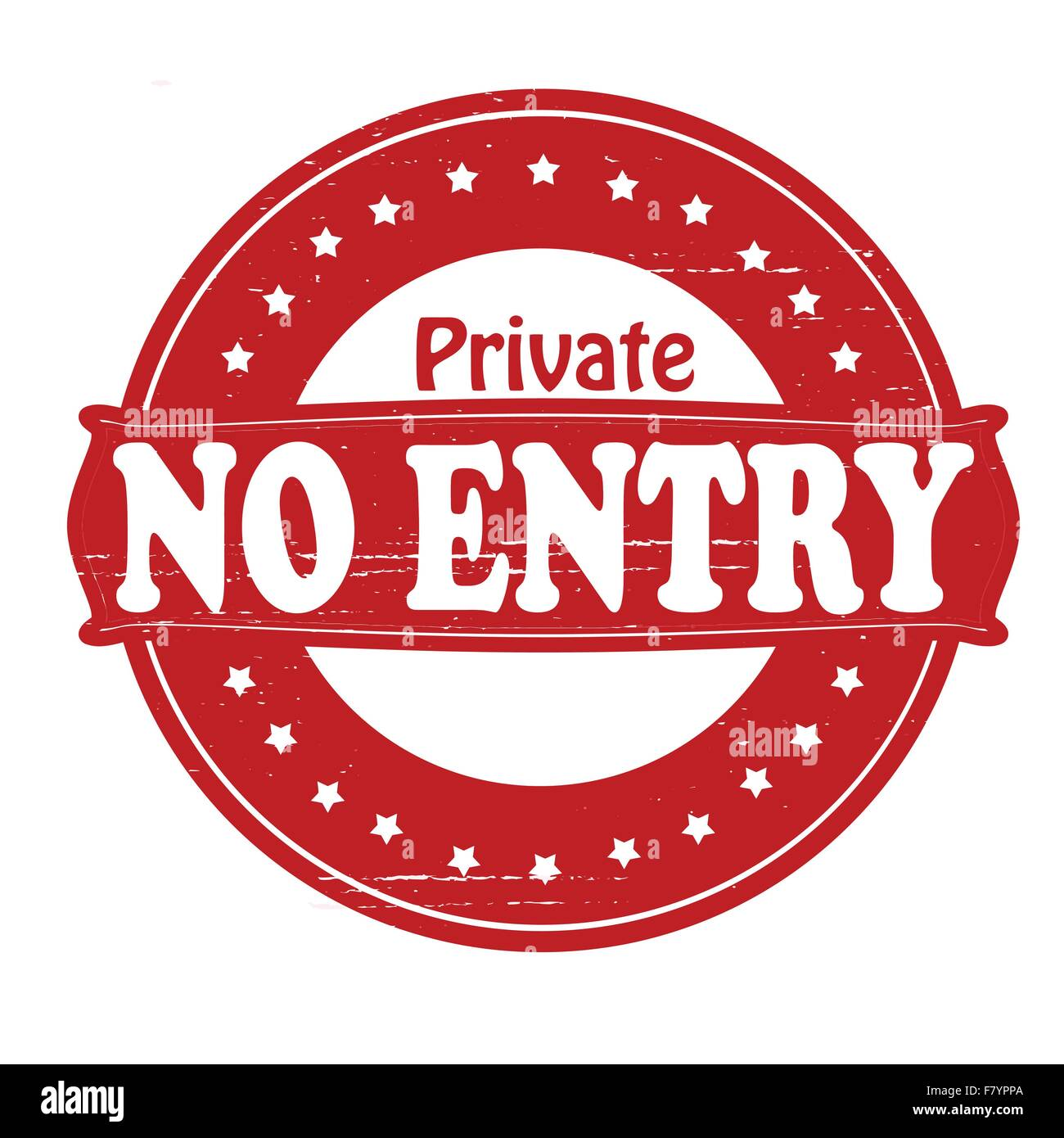 Private no entry - Stock Image
