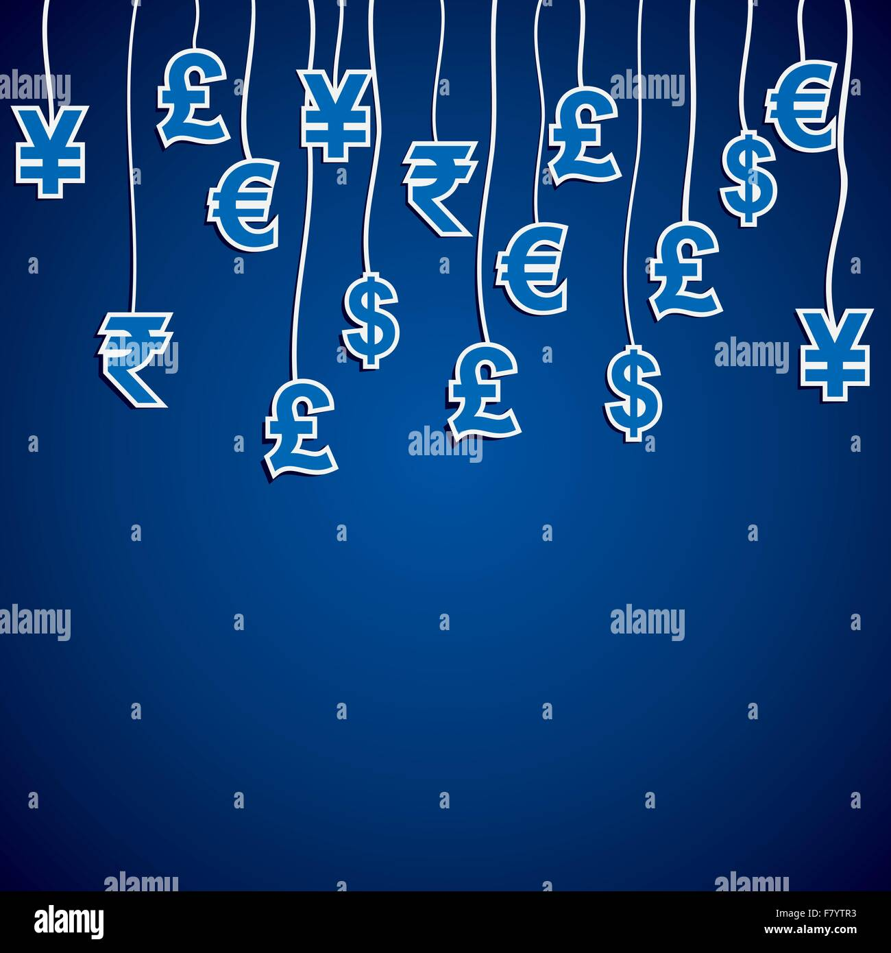 currency symbol of different country - Stock Vector