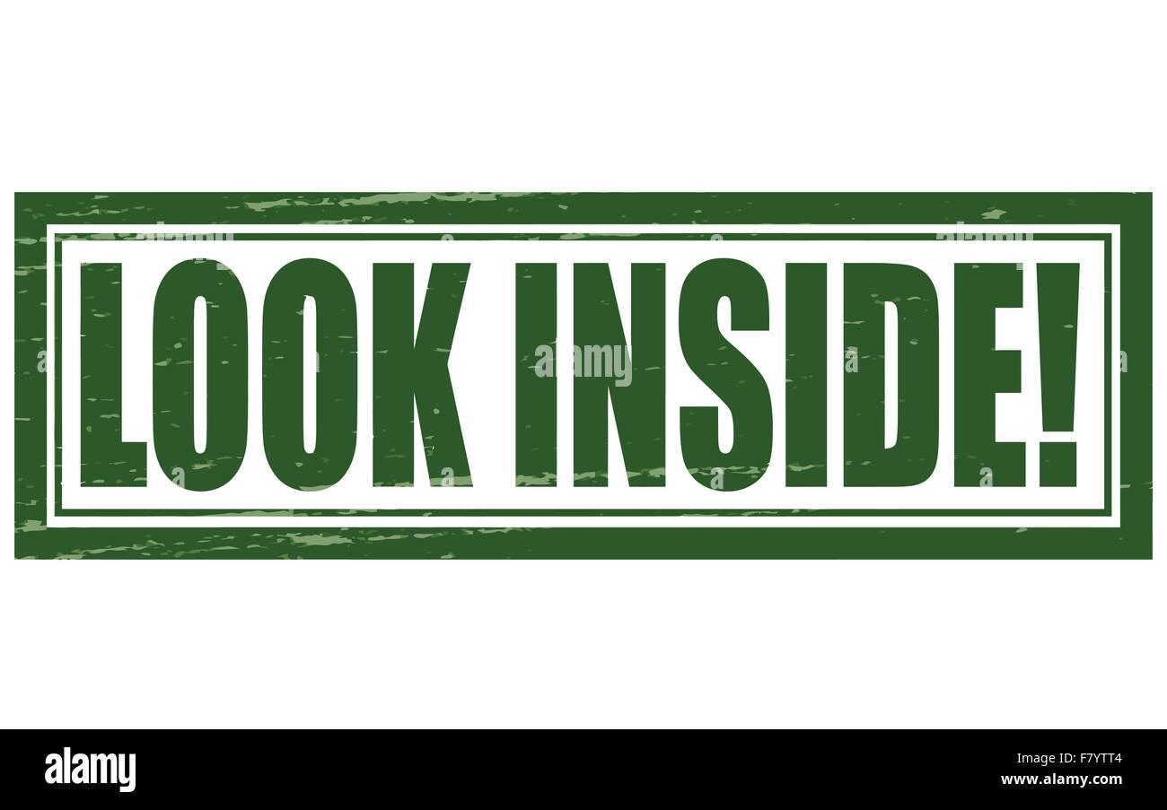 Look inside - Stock Vector