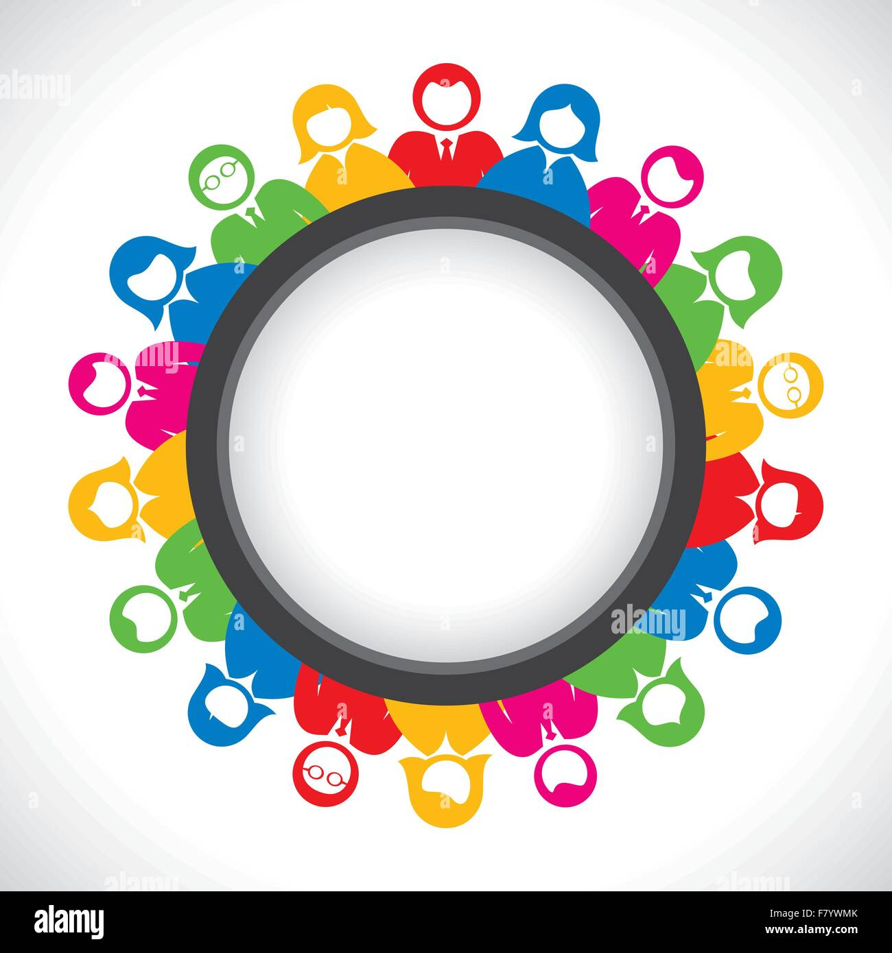 Round meeting table world map stock photos round meeting table colorful business men and women arrange in round table stock image gumiabroncs Images