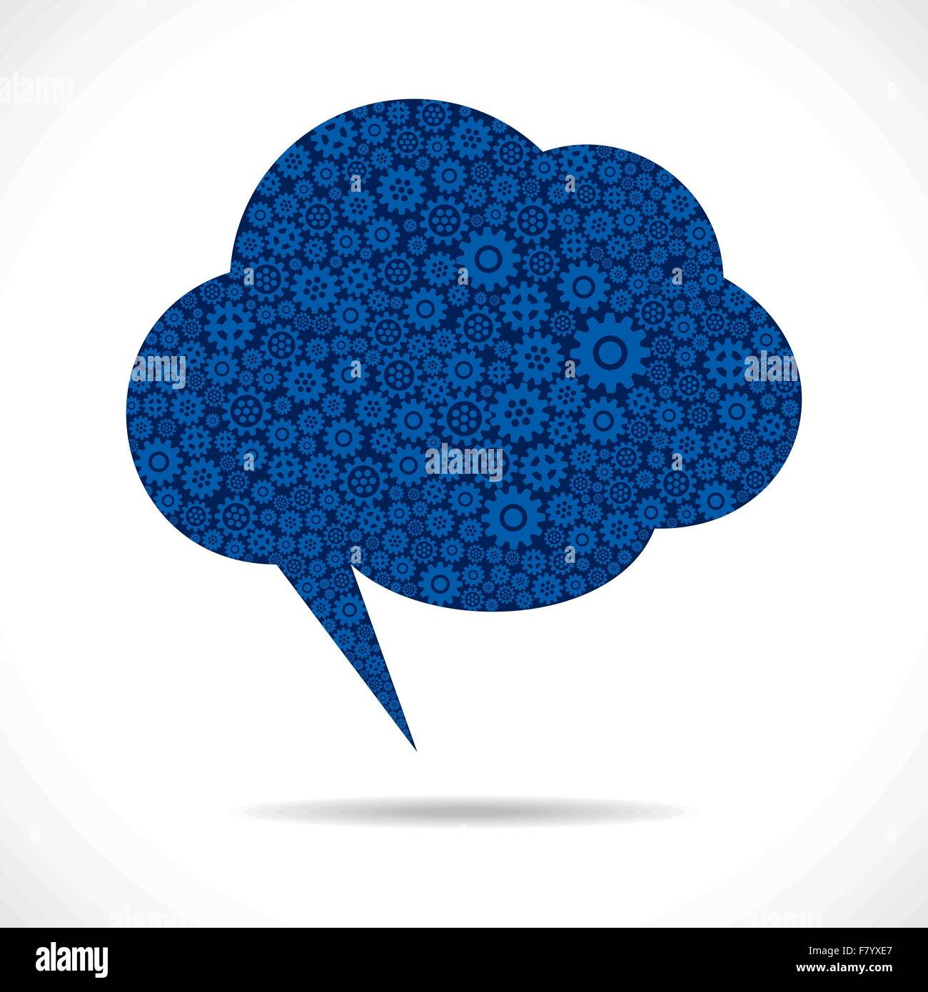 cloud message bubble design with gear stock vector Stock Vector