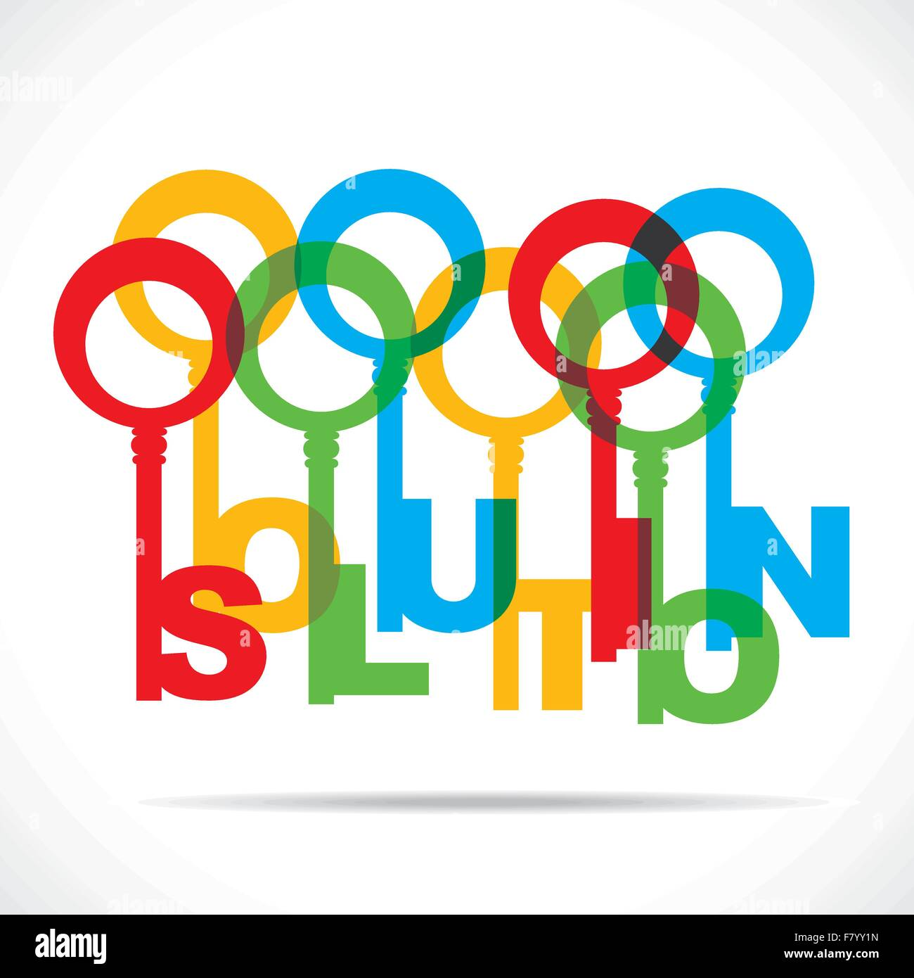 color solution word key - Stock Image