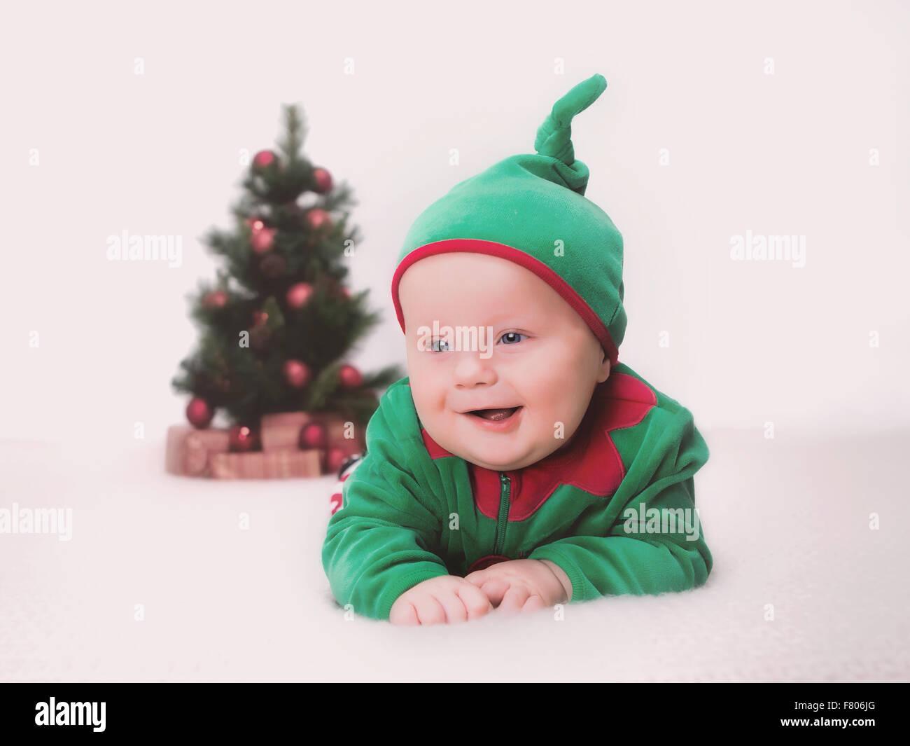 Santa's little helper - Stock Image