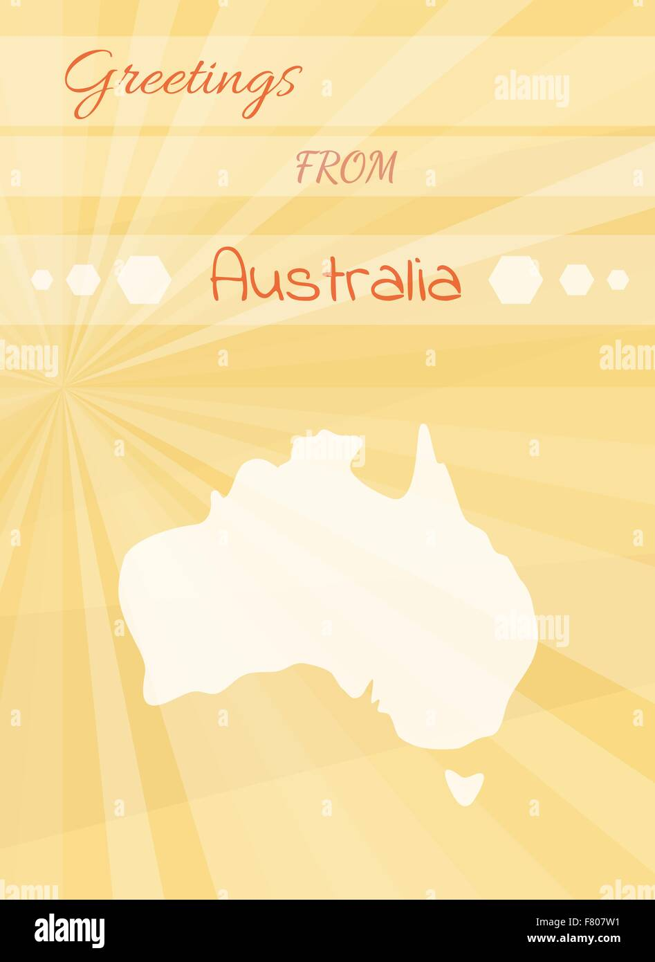 Greetings From Australia Stock Vector Art Illustration Vector