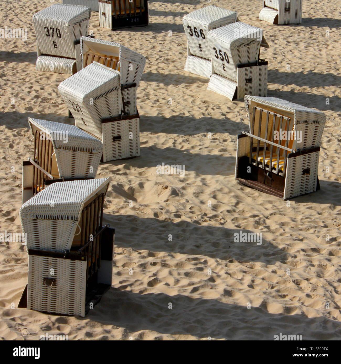 Kolonie Strandkörbe - Stock Image