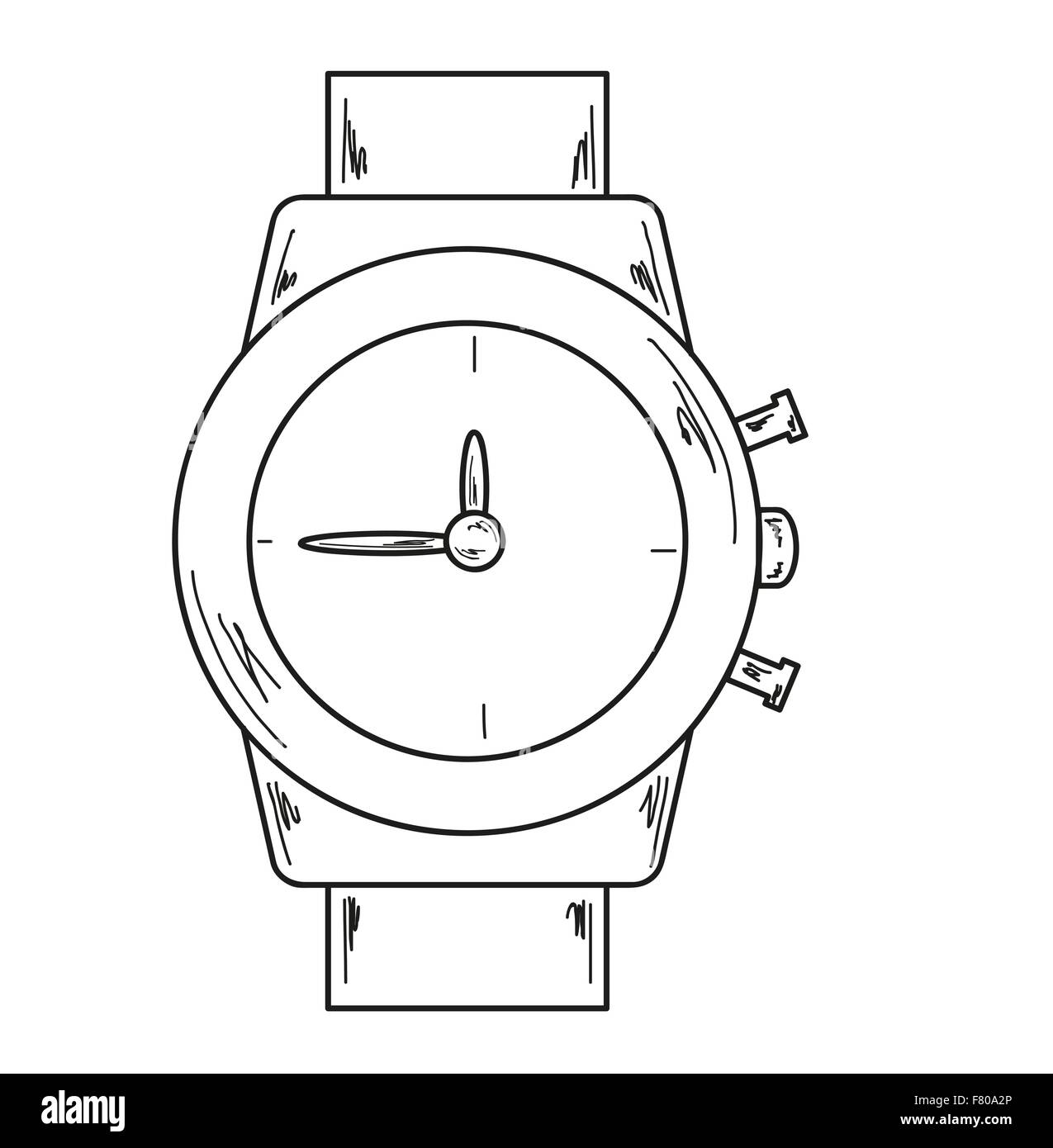 watch, sketch - Stock Image
