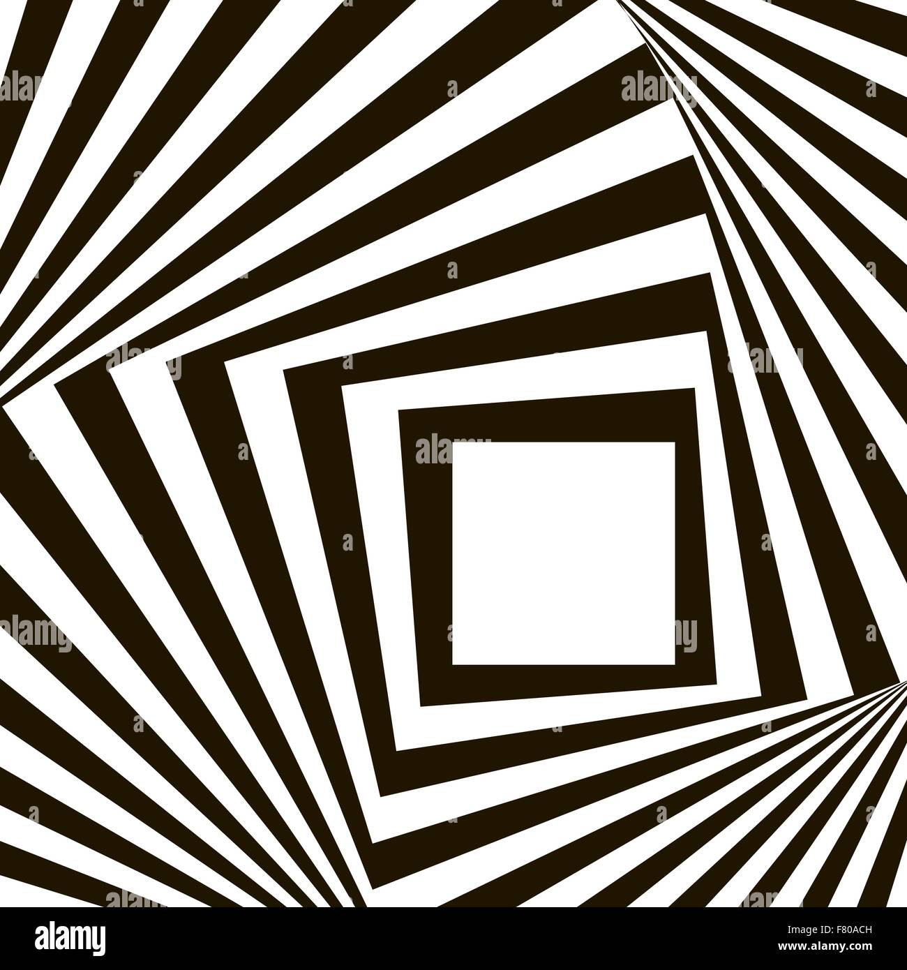Geometric Black and White Vector Pattern - Stock Image