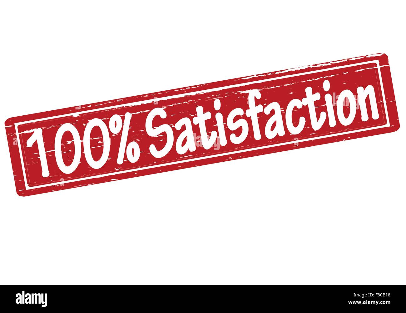 One hundred percent satisfaction Stock Vector