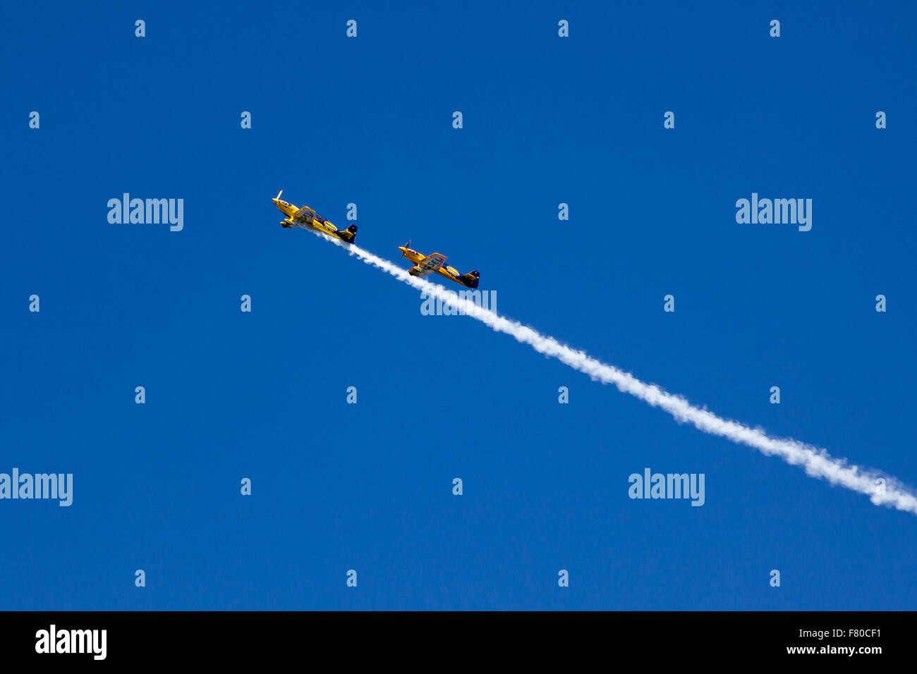 Aerobatic plane in action. - Stock Image